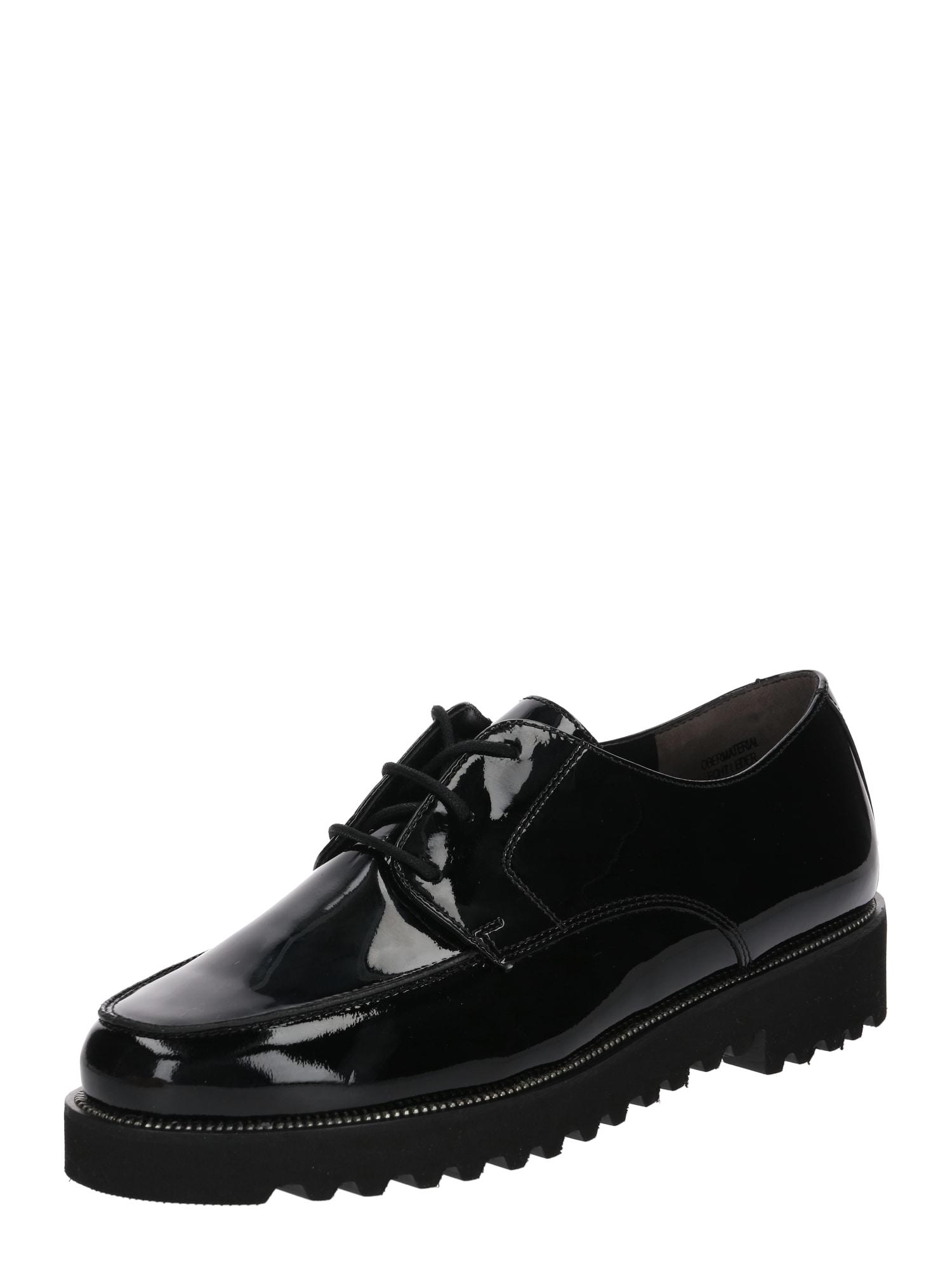 Šněrovací boty černá Paul Green