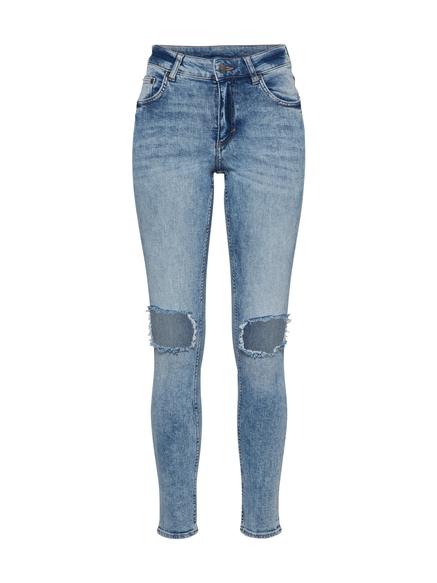 CHEAP MONDAY Dames Jeans Mid Skin blue denim