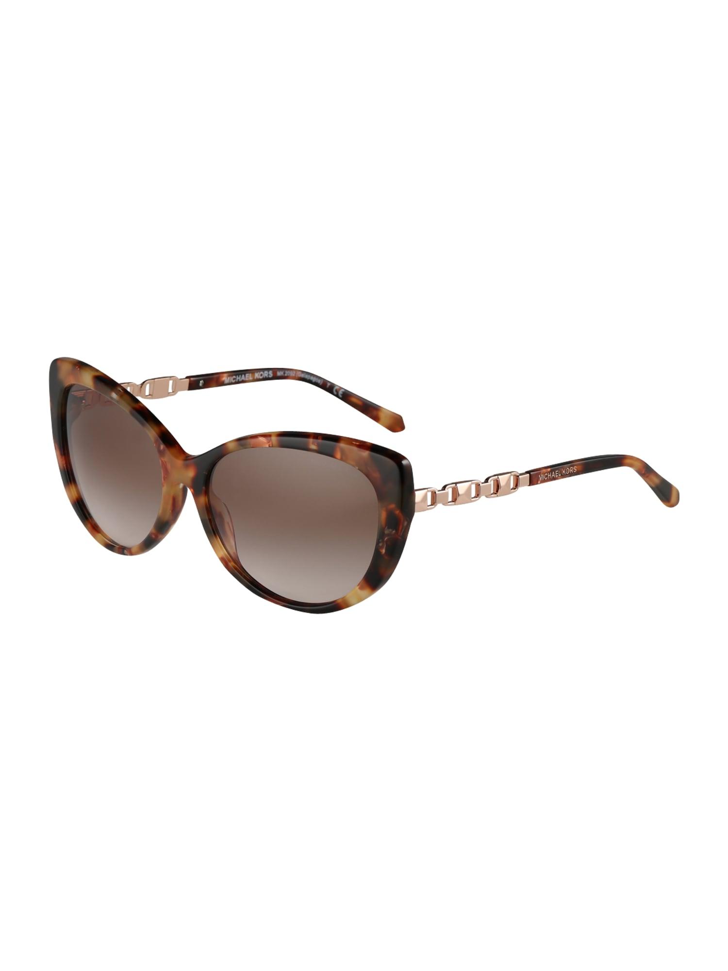 Sluneční brýle GALAPAGOS hnědá Michael Kors