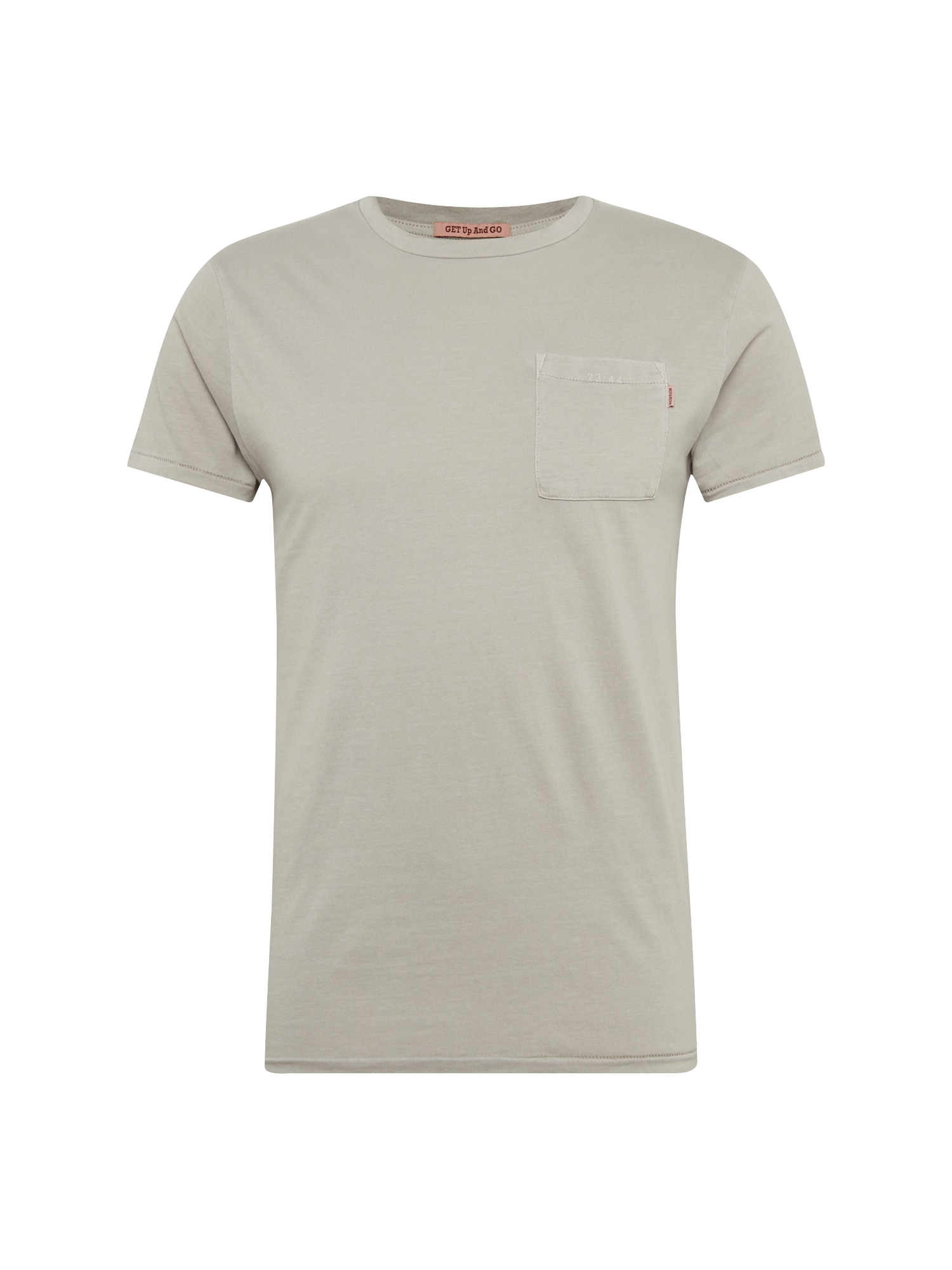 SCOTCH  and  SODA Heren Shirt Garment-dyed tee with chest pocket lichtgrijs