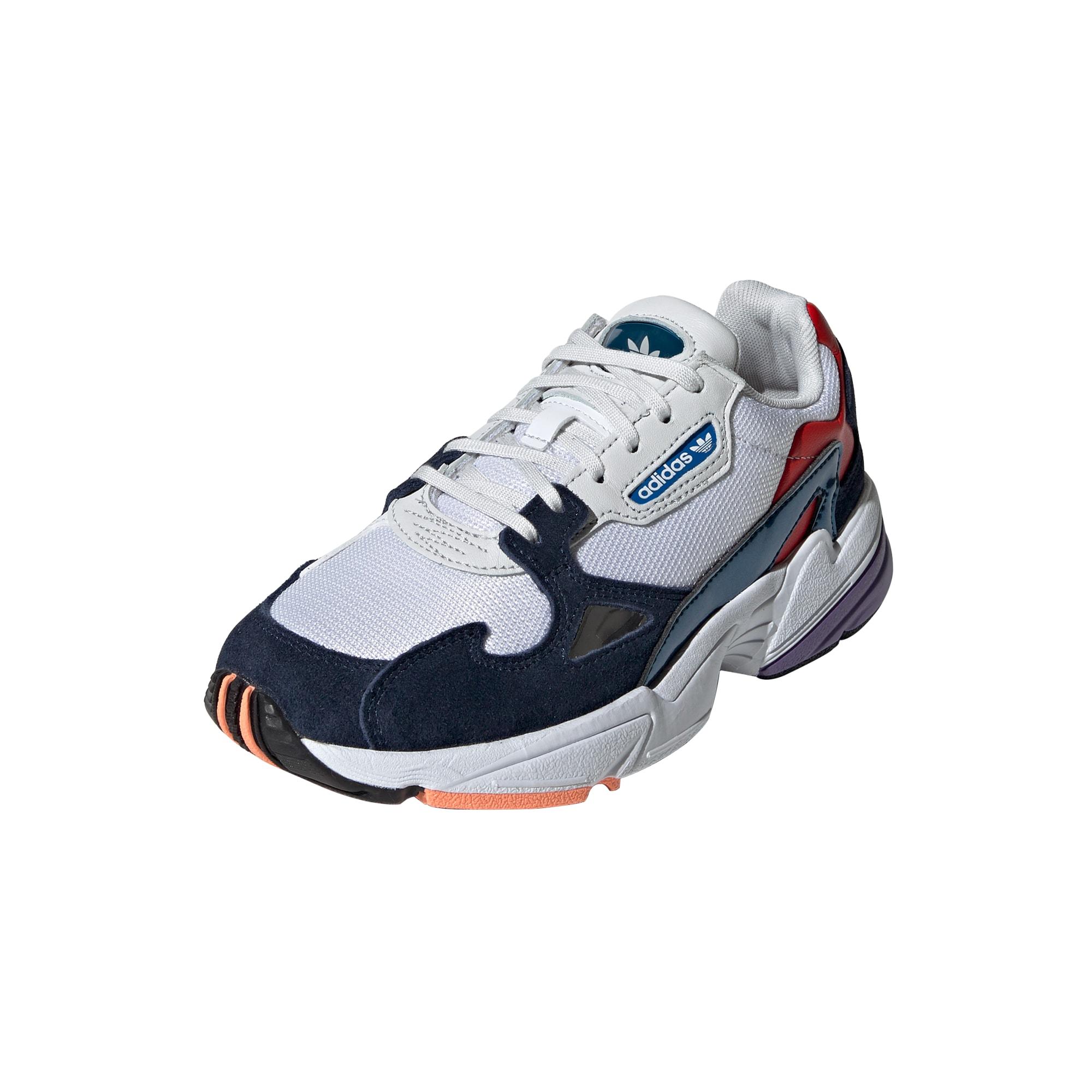 ADIDAS ORIGINALS, Dames Sneakers laag 'Falcon', rood / zwart / wit