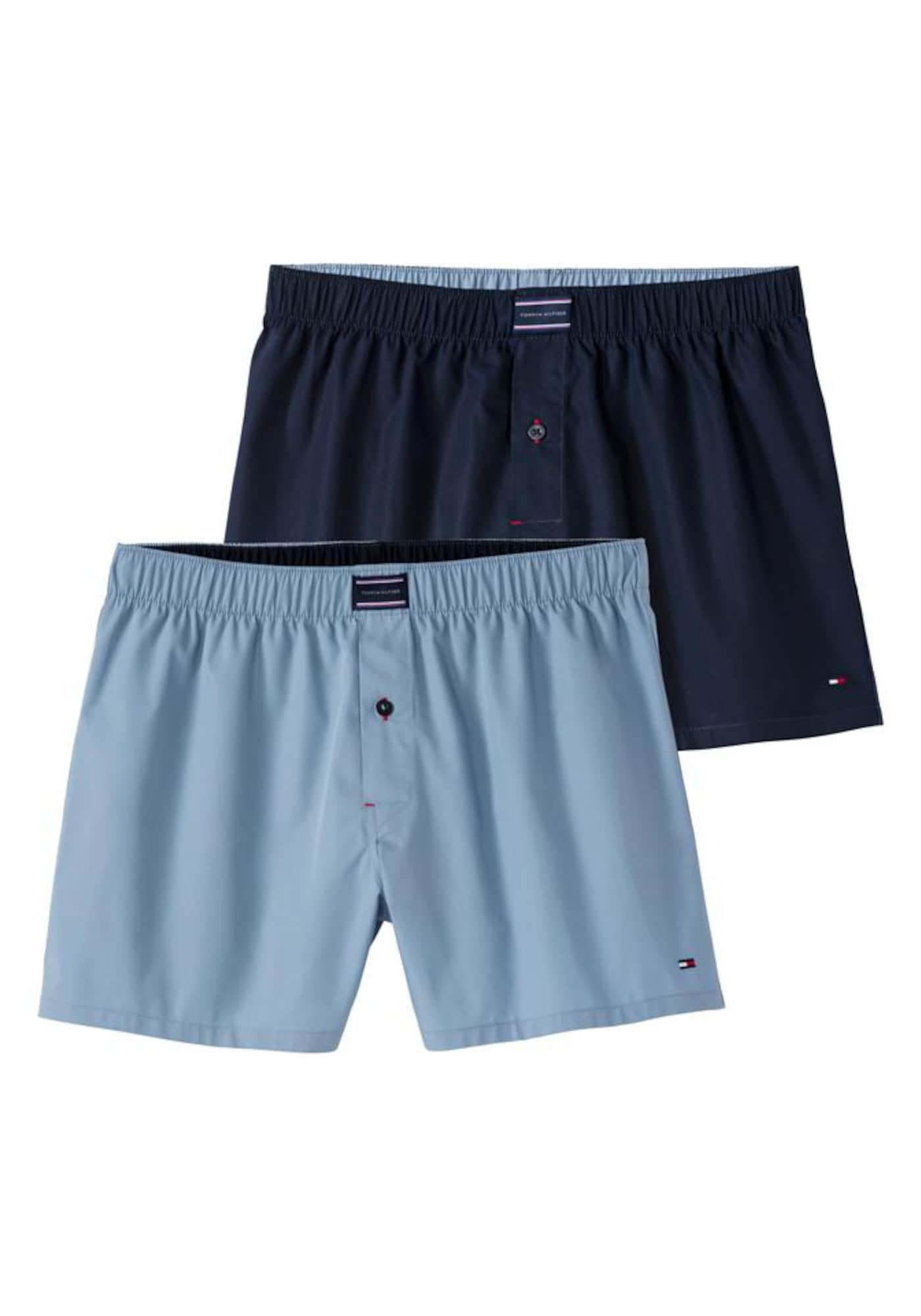 Boxerky Woven námořnická modř světlemodrá Tommy Hilfiger Underwear