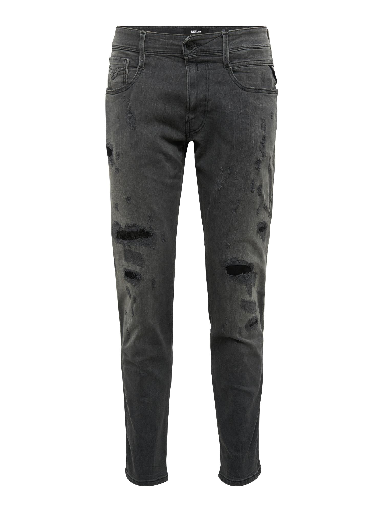 REPLAY Heren Jeans Anbass black denim