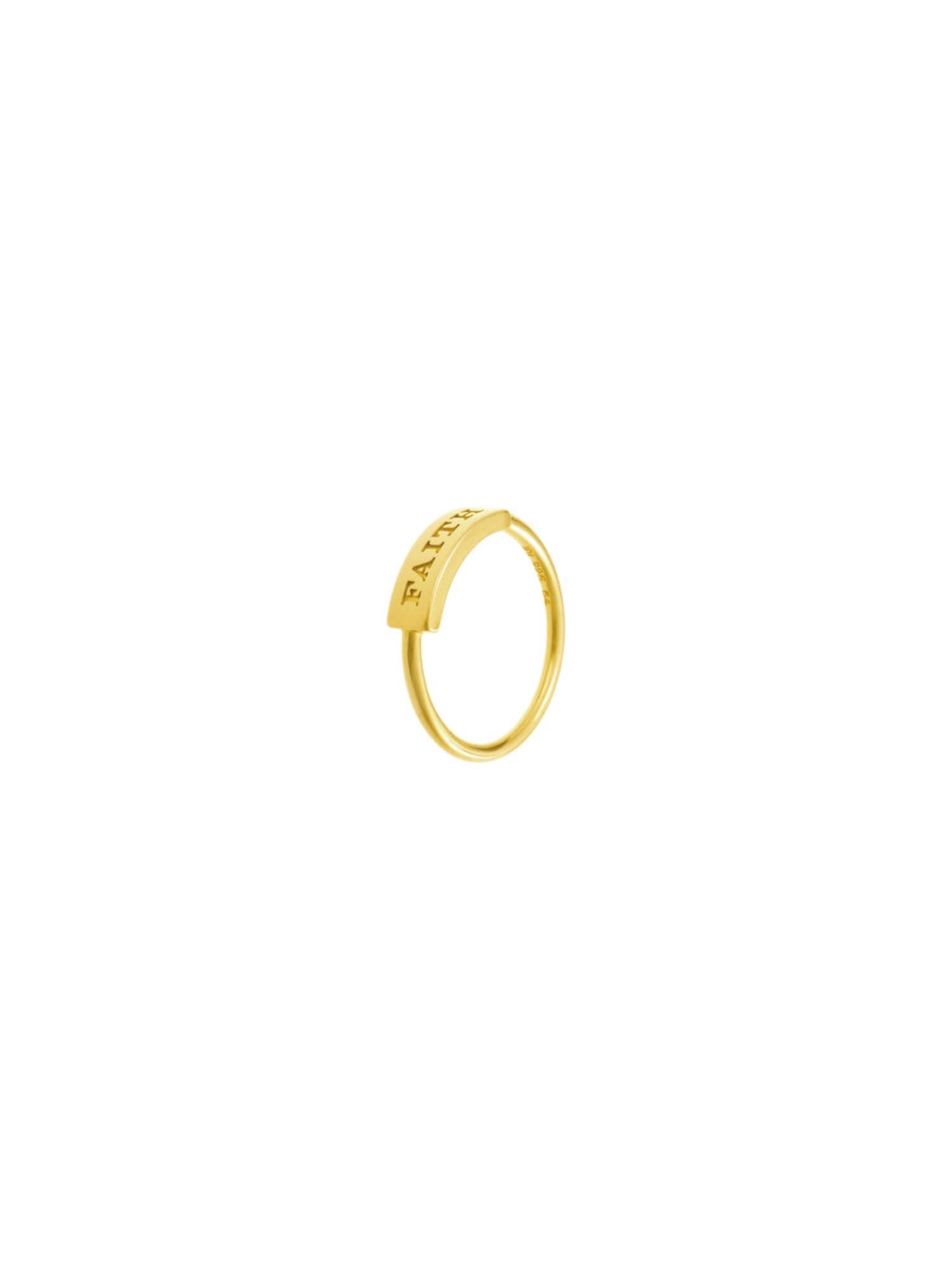 ID Fine, Dames Ring 'Faith', goud