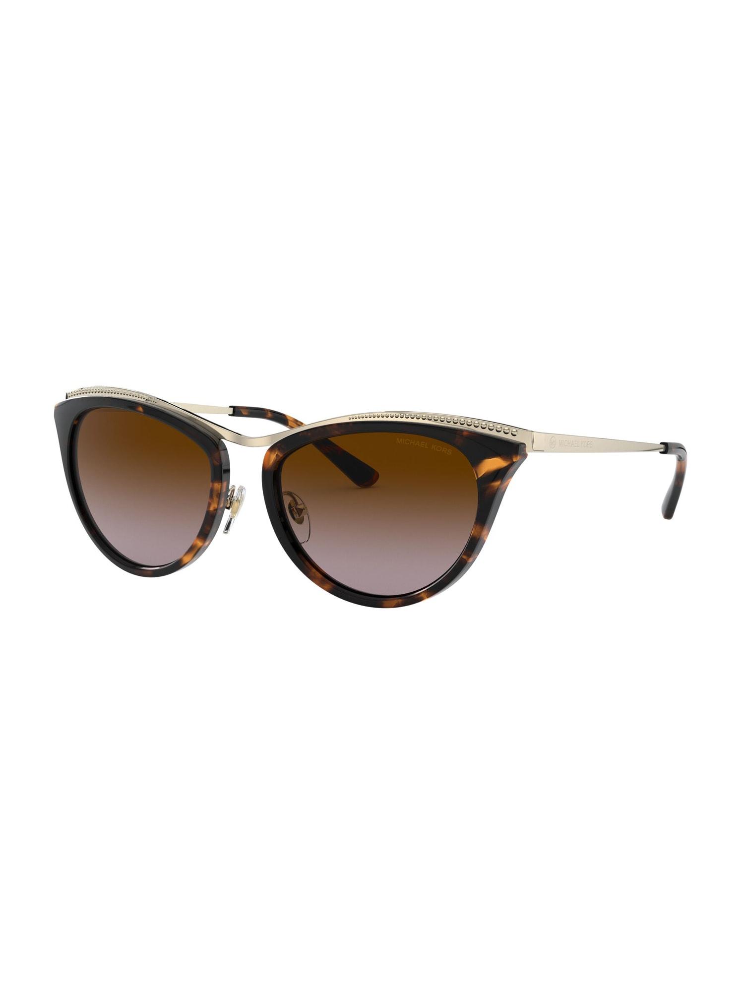 Michael Kors Sluneční brýle  zlatá / hnědá