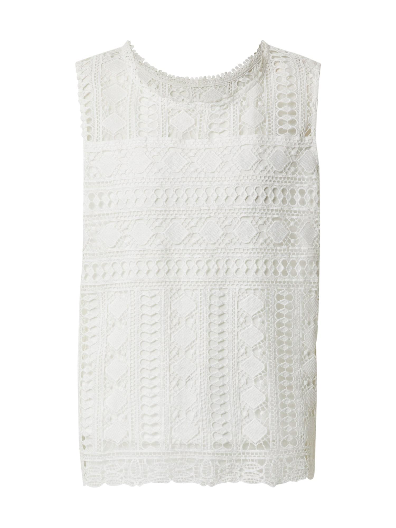 Cream Top 'MadinaCR'  barva bílé vlny / bílá