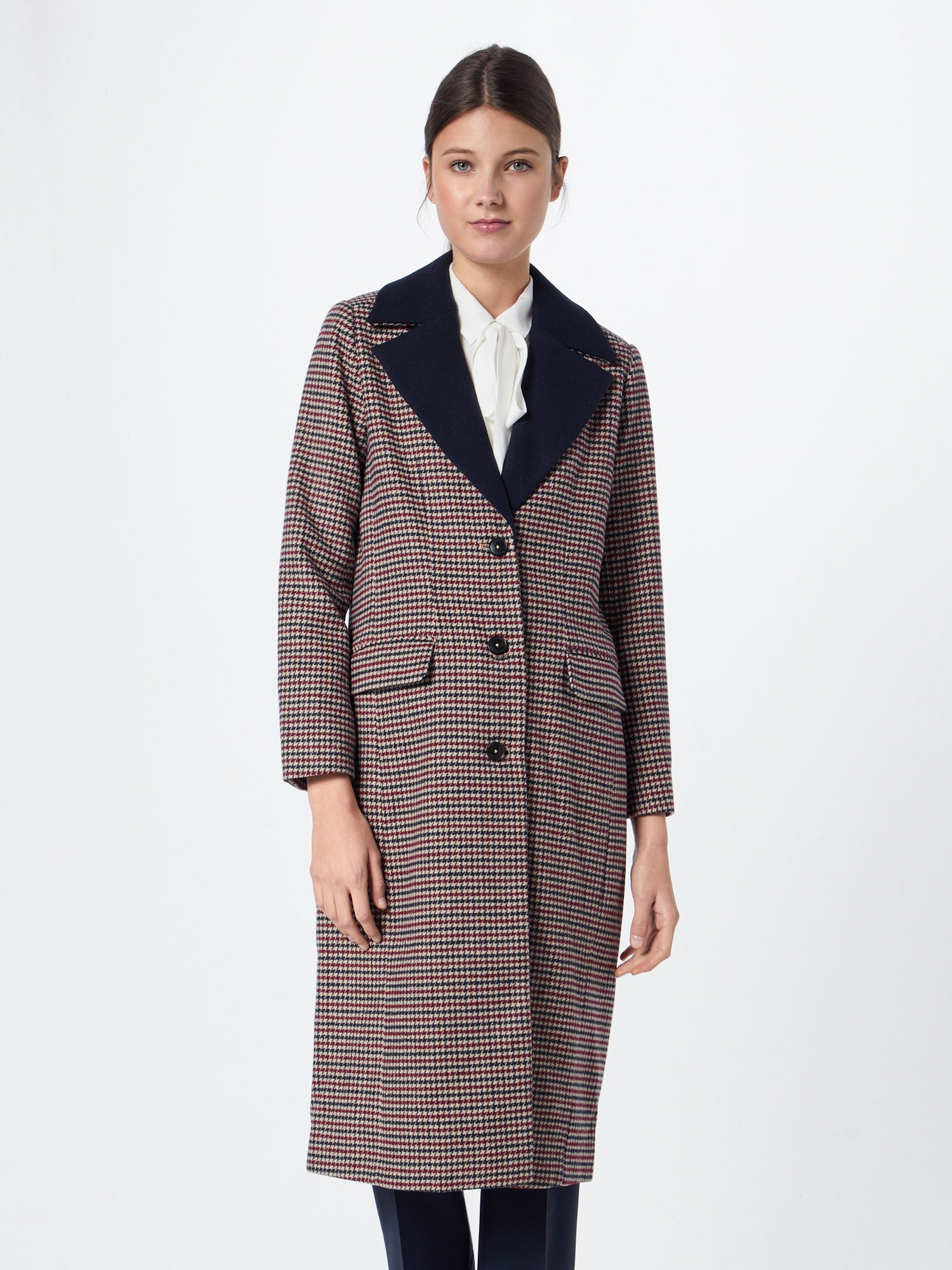 re.draft - Mantel 'Houndstooth Coat'