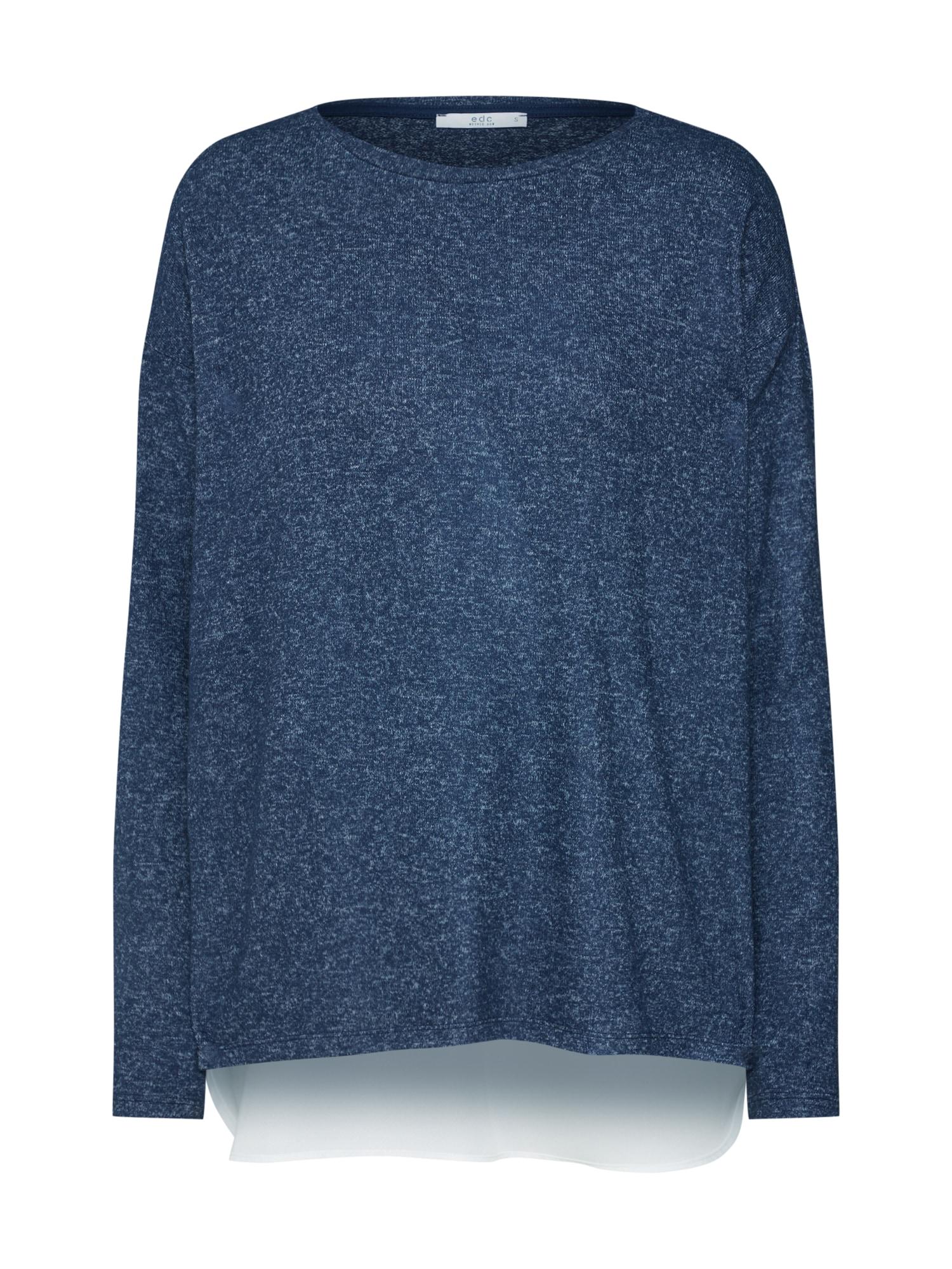 Tričko Woven hem T-Shirts námořnická modř EDC BY ESPRIT