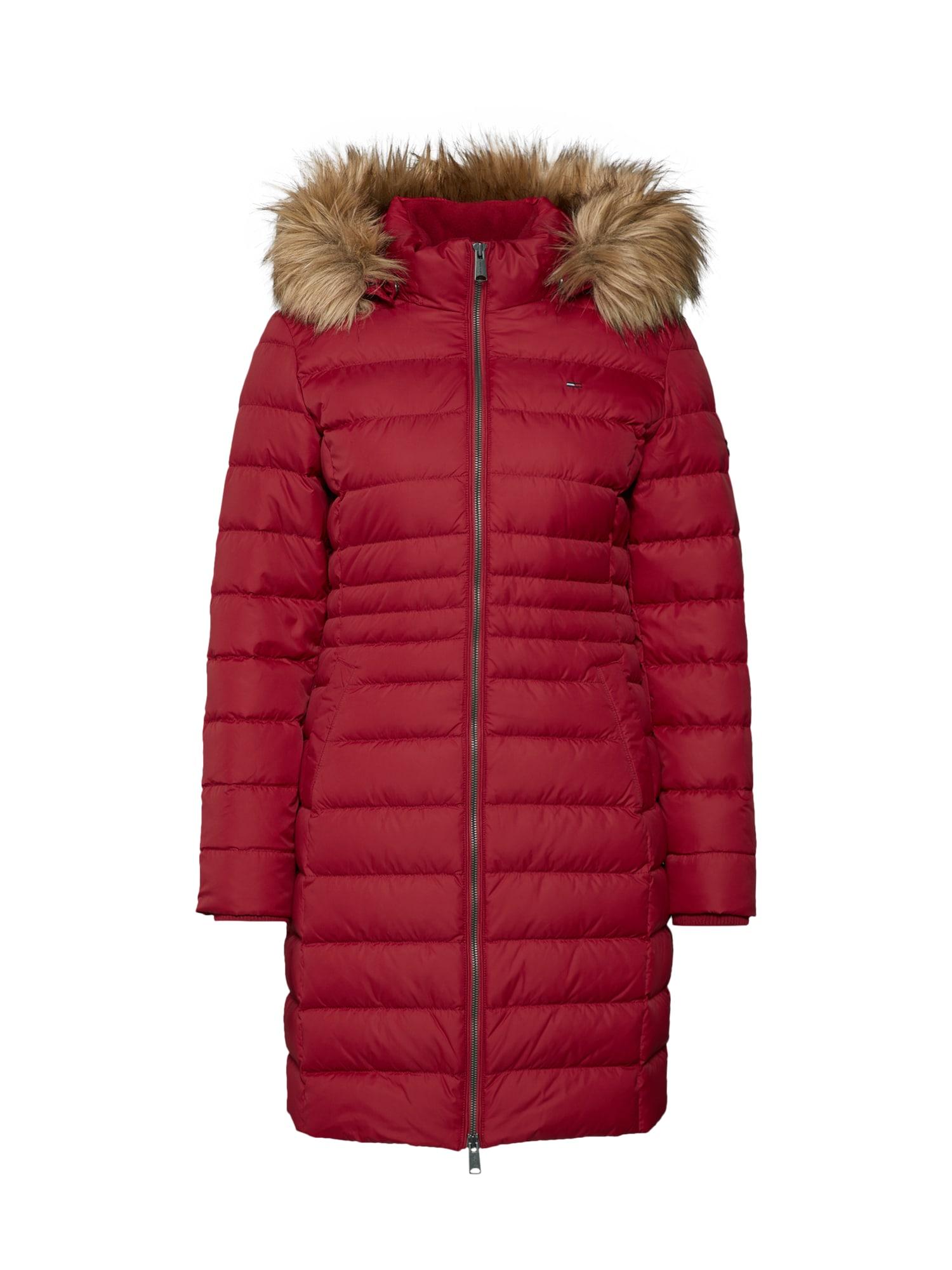 Zimní kabát červená Tommy Jeans