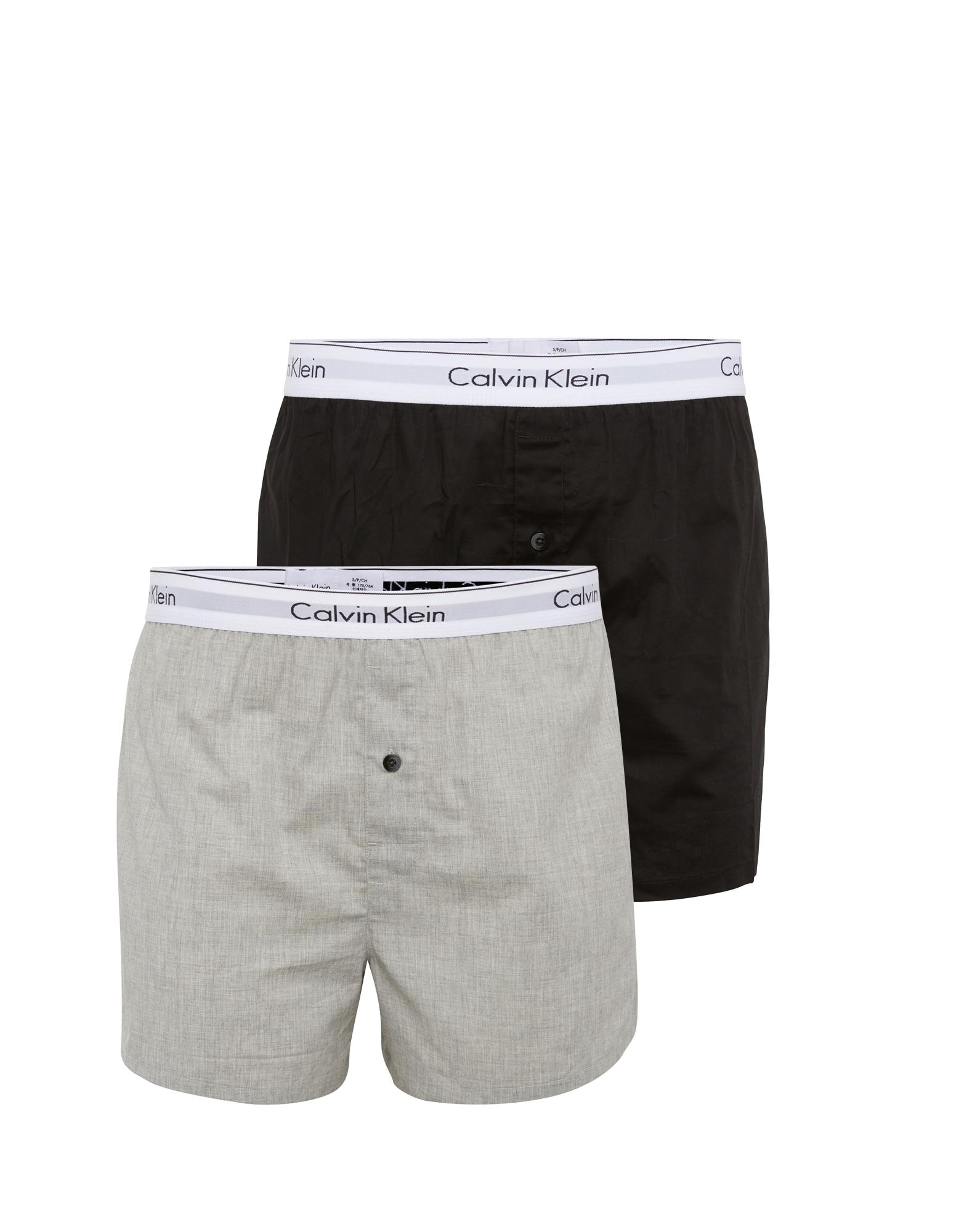 Boxerky šedý melír černá Calvin Klein Underwear