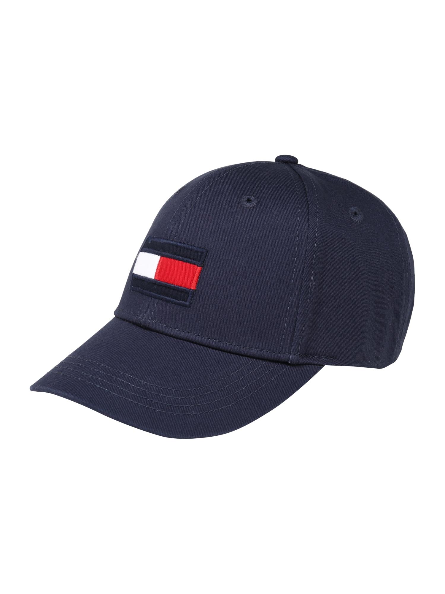 TOMMY HILFIGER Čiapky 'BIG FLAG CAP' tmavomodrá