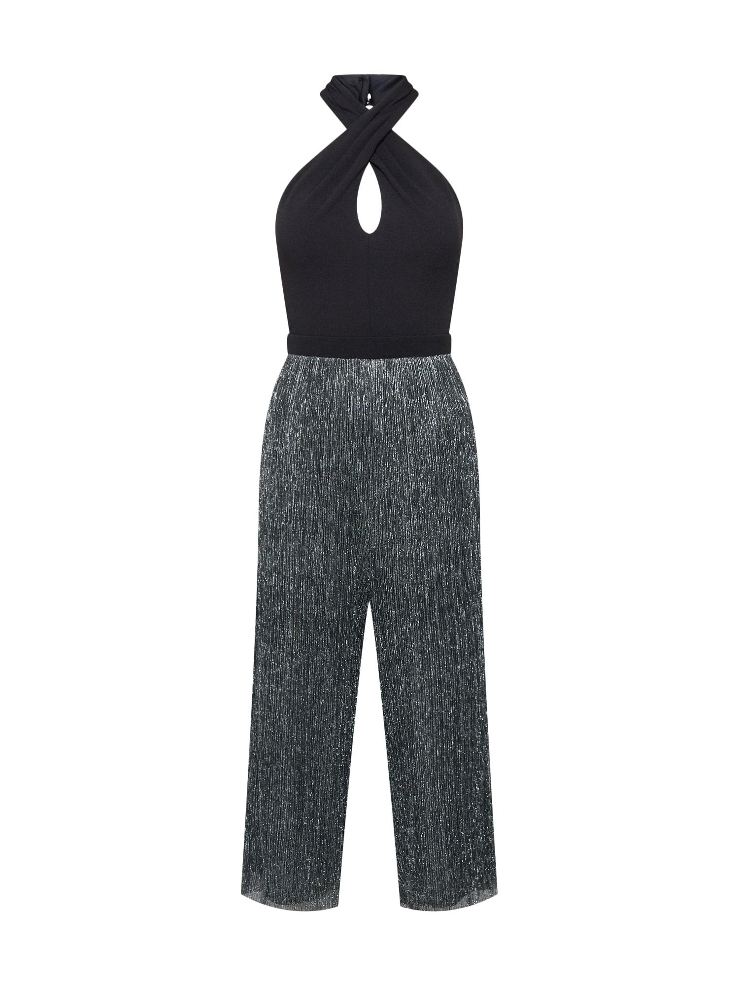 Lipsy, Dames Jumpsuit 'BLACK/SILVER HALTER JUMPSUIT', zwart