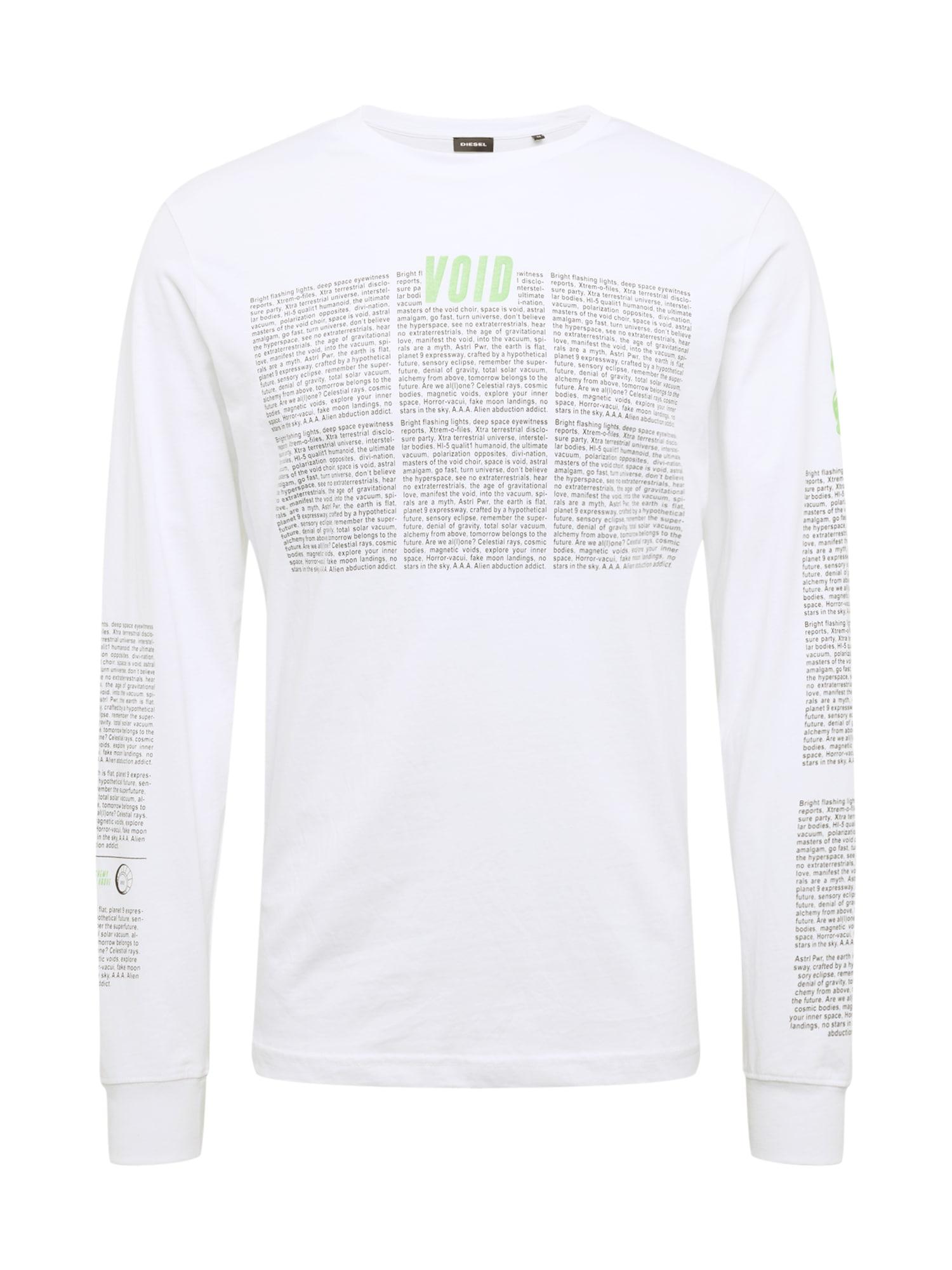 Tričko T-JUST-LS šedá bílá DIESEL