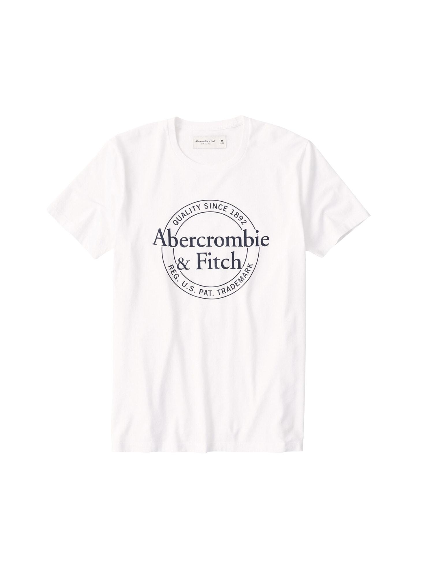 Abercrombie & Fitch Tričko 'BEST PRINT LOGO'  biela