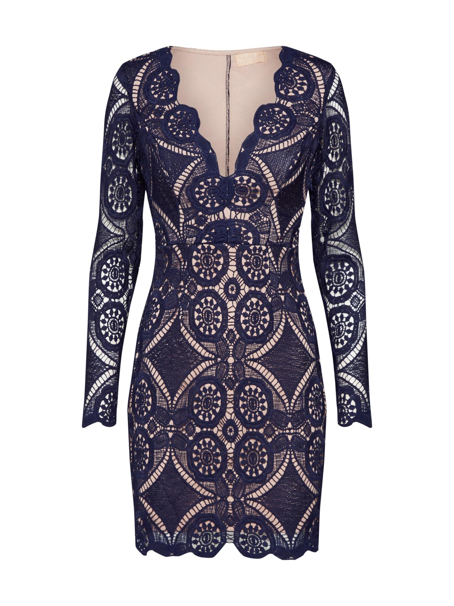 Pouzdrové šaty ATOMIC námořnická modř Love Triangle