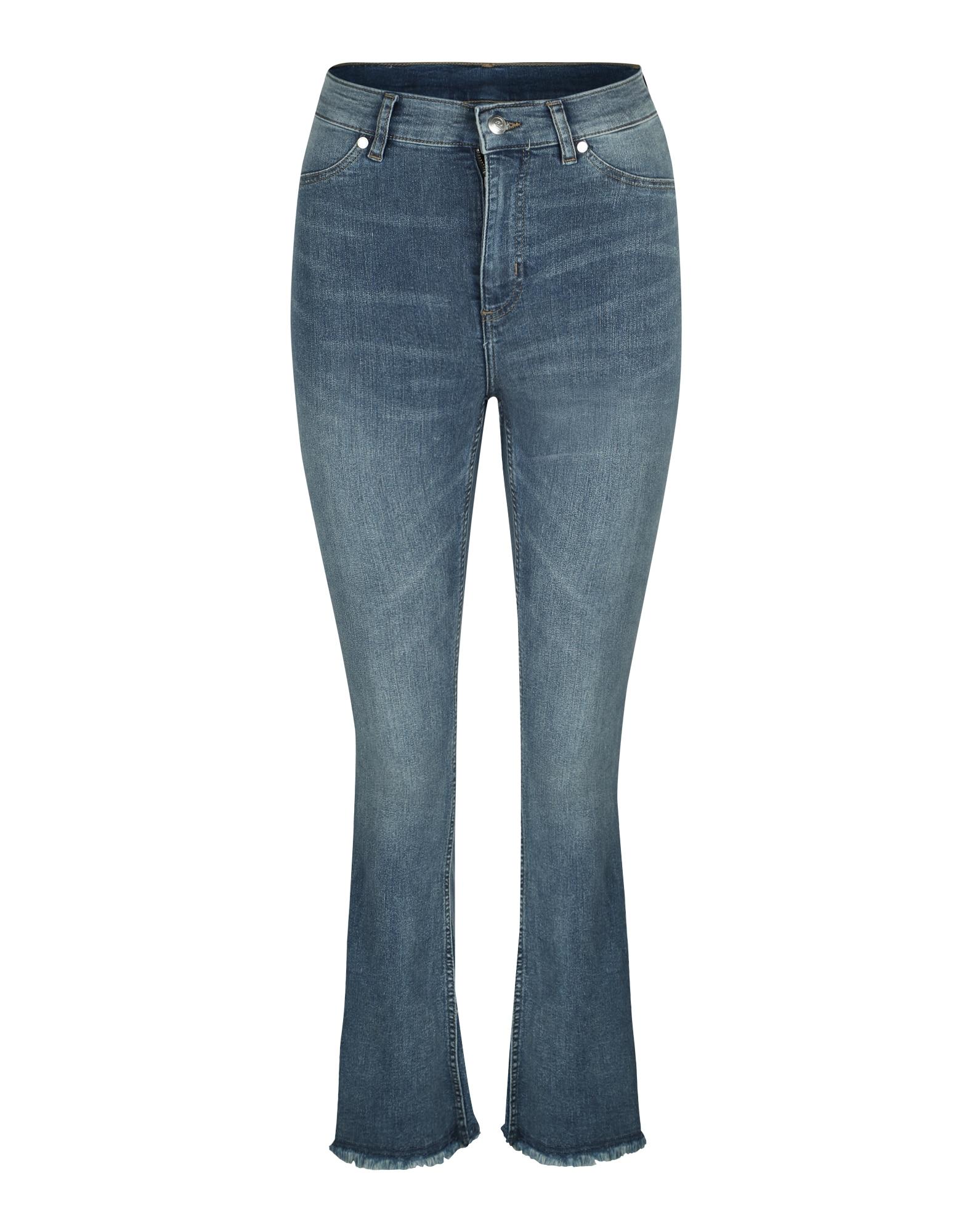 CHEAP MONDAY Dames Jeans Kick Spray blauw