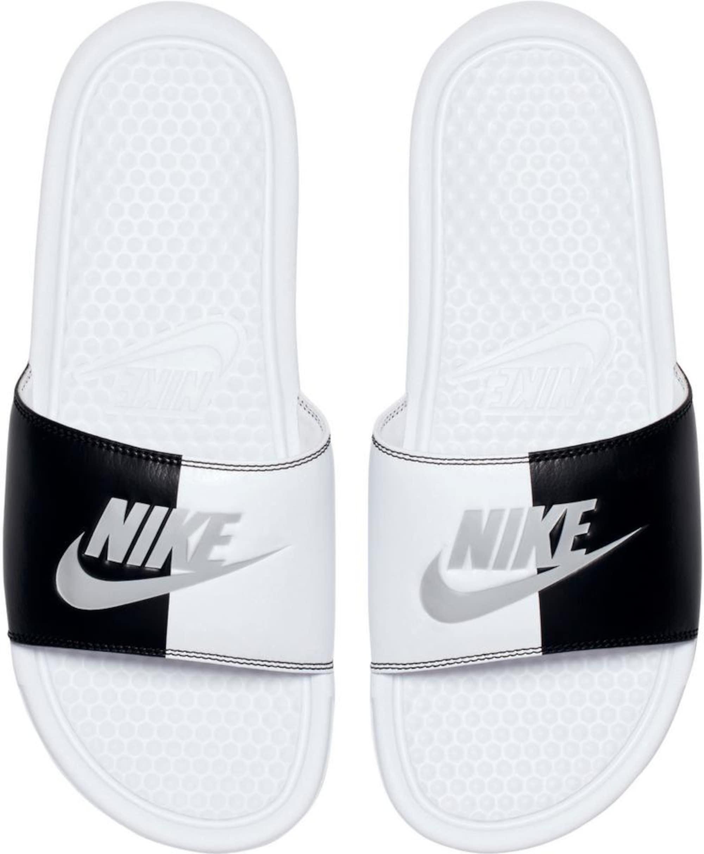 Nike Sportswear Klapki 'Benassi Just Do It'  czarny / biały
