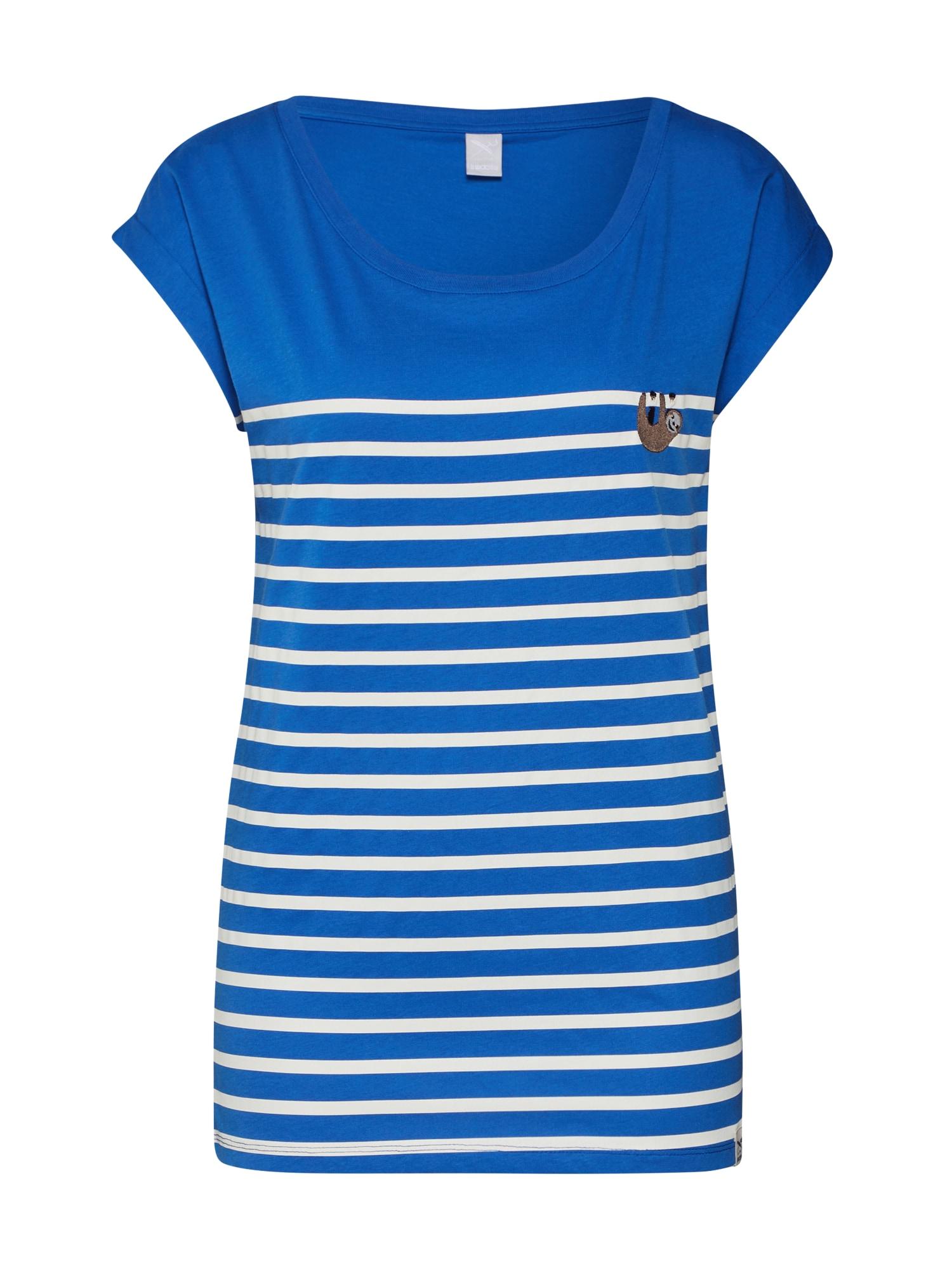 Iriedaily Tričko  bílá / modrá