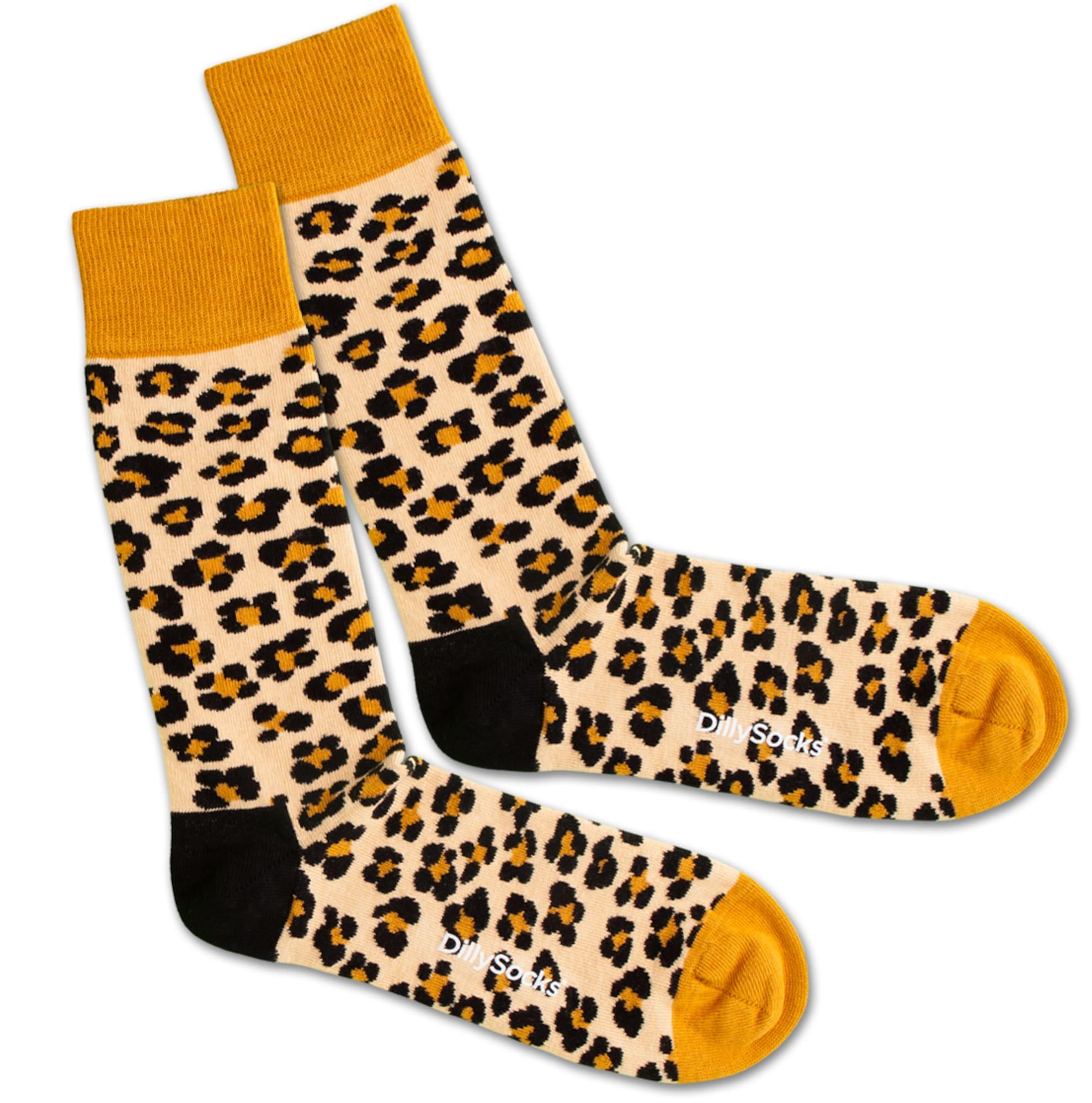Ponožky Leopard Skin béžová hnědá DillySocks