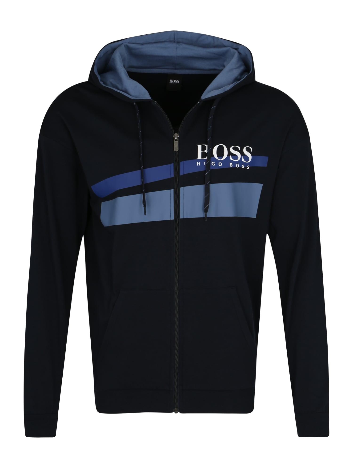 Pyžamo dlouhé Authentic H modrá noční modrá bílá BOSS