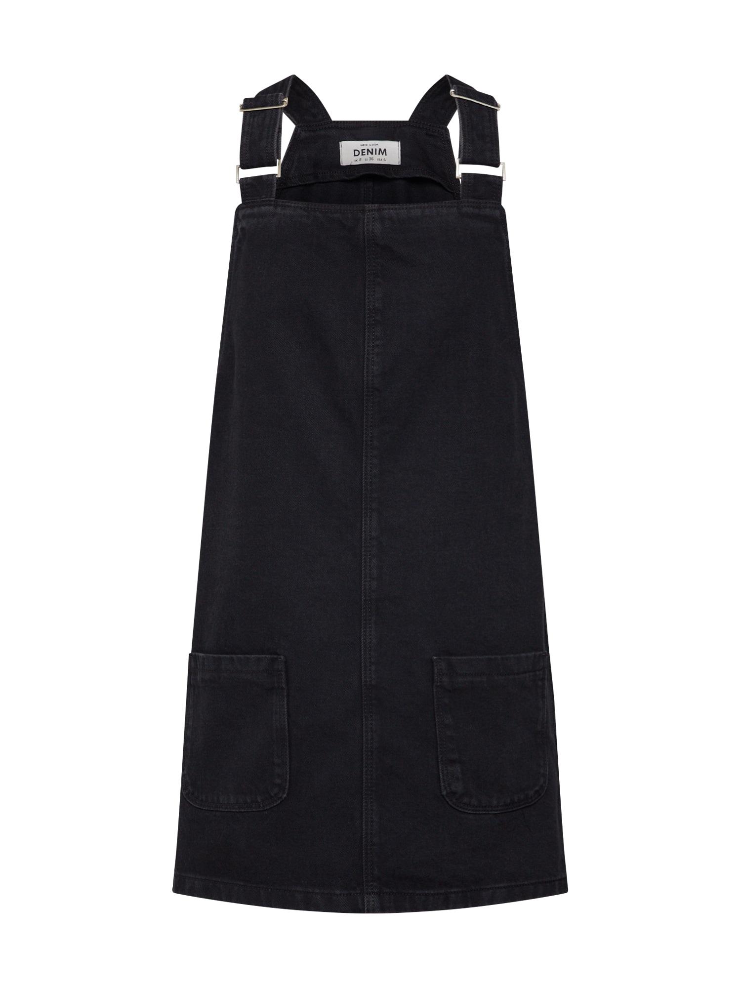 Šaty CHARLOTTE BUCKLE PINNY černá džínovina NEW LOOK