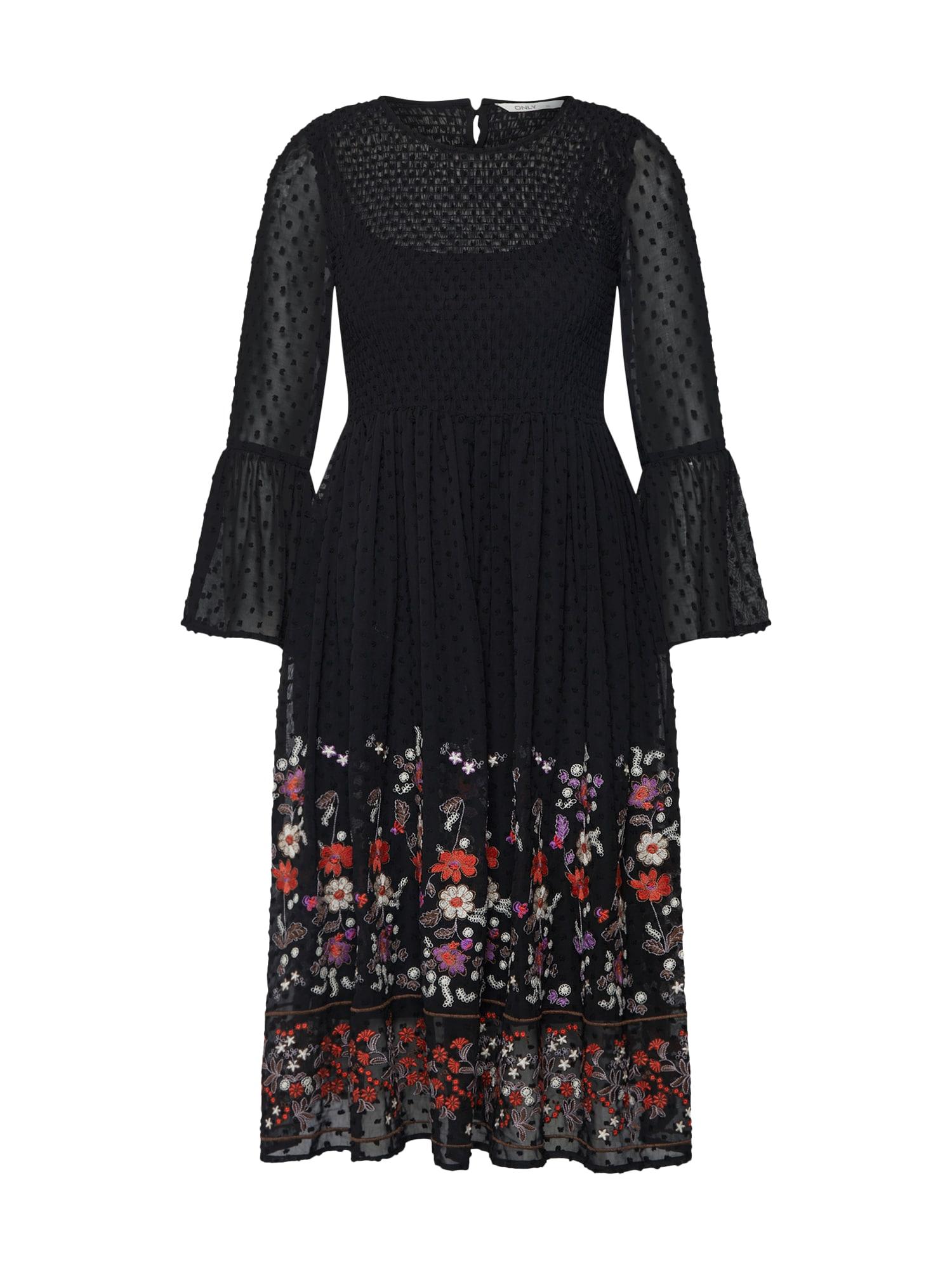 Šaty VANILLA mix barev černá ONLY