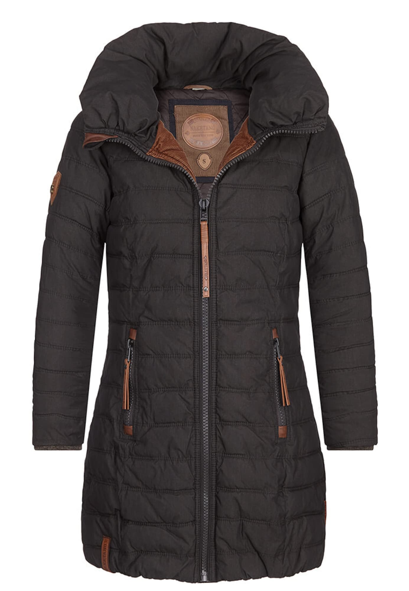 Zimní kabát tmavě šedá Naketano