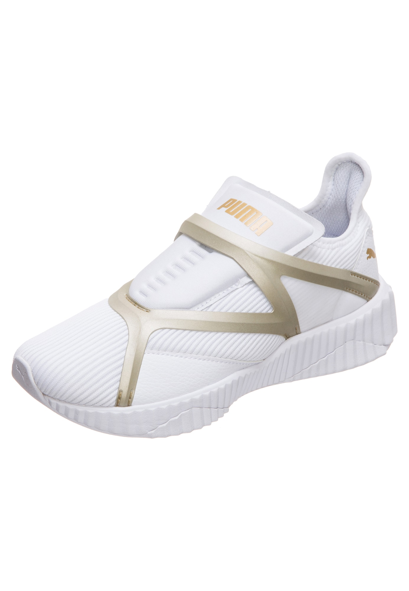 PUMA, Dames Sneakers laag 'Defy Cage', goud / wit