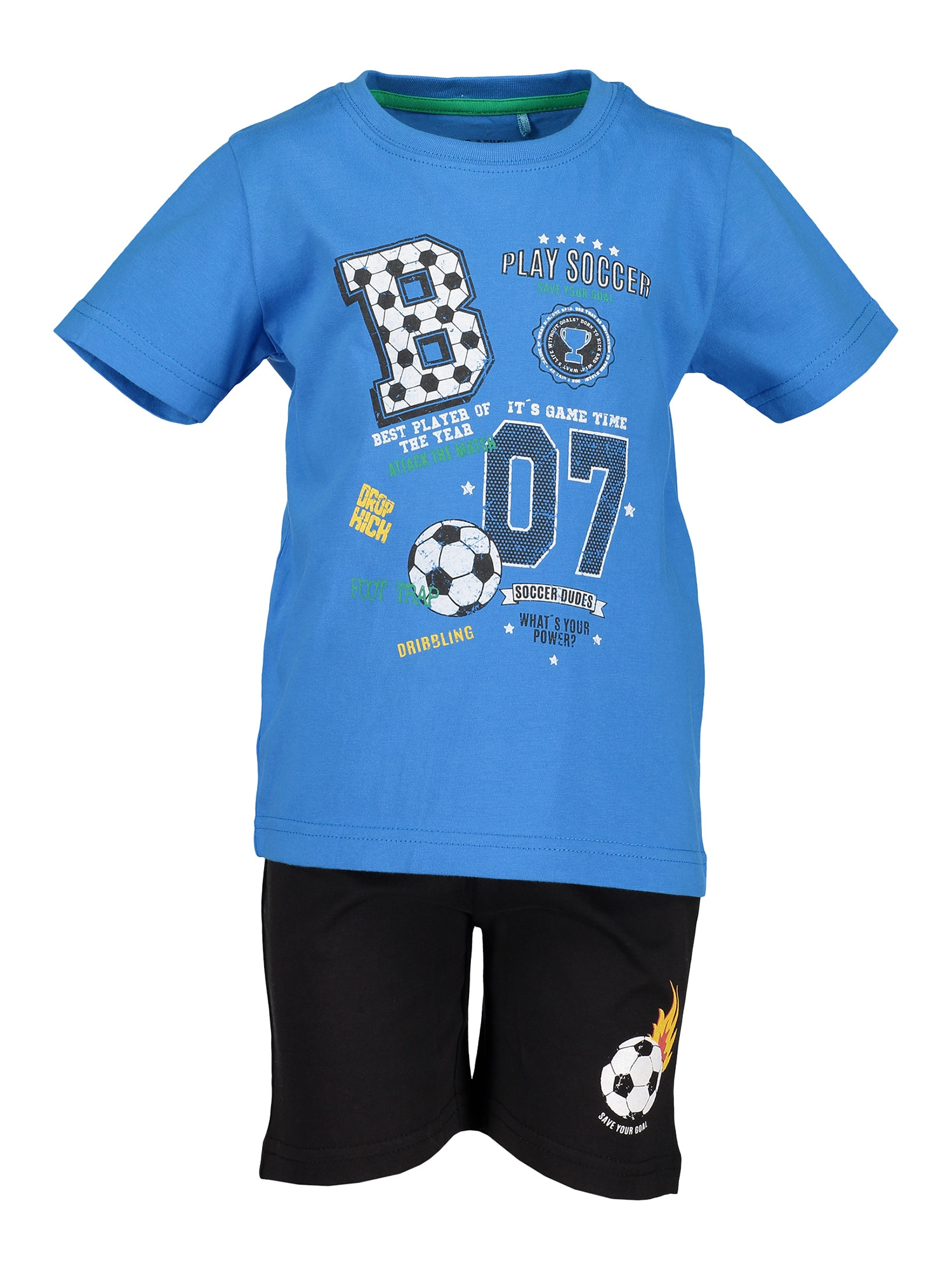 Sada kl Kn Set: T-Shirt Shorts tyrkysová BLUE SEVEN