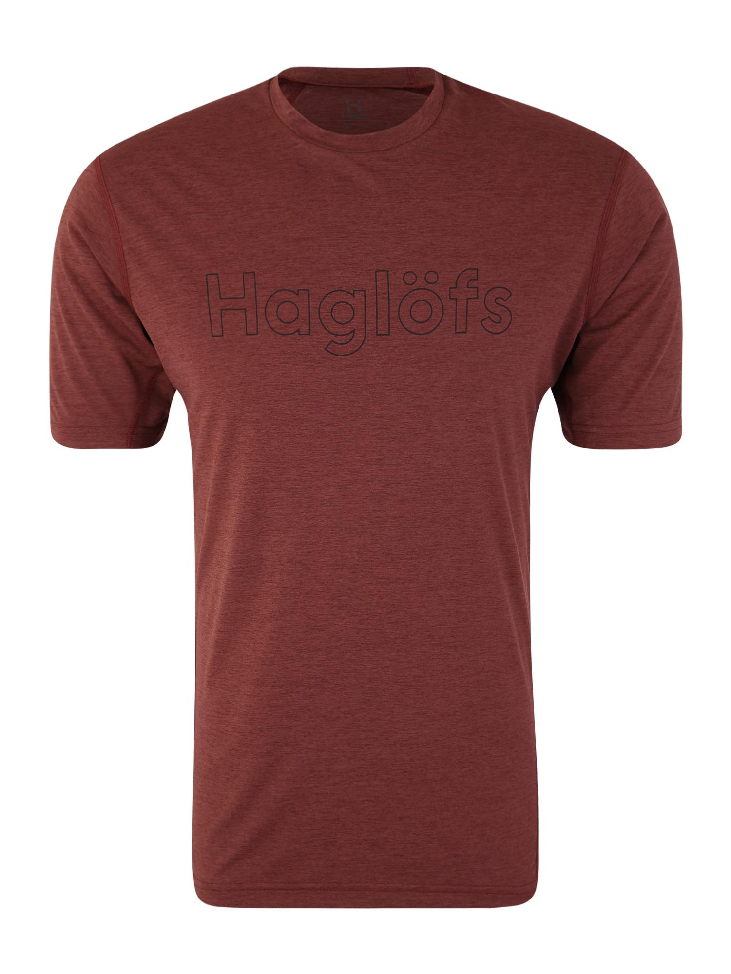 Funkční tričko Ridge Tee Men rezavě červená Haglöfs
