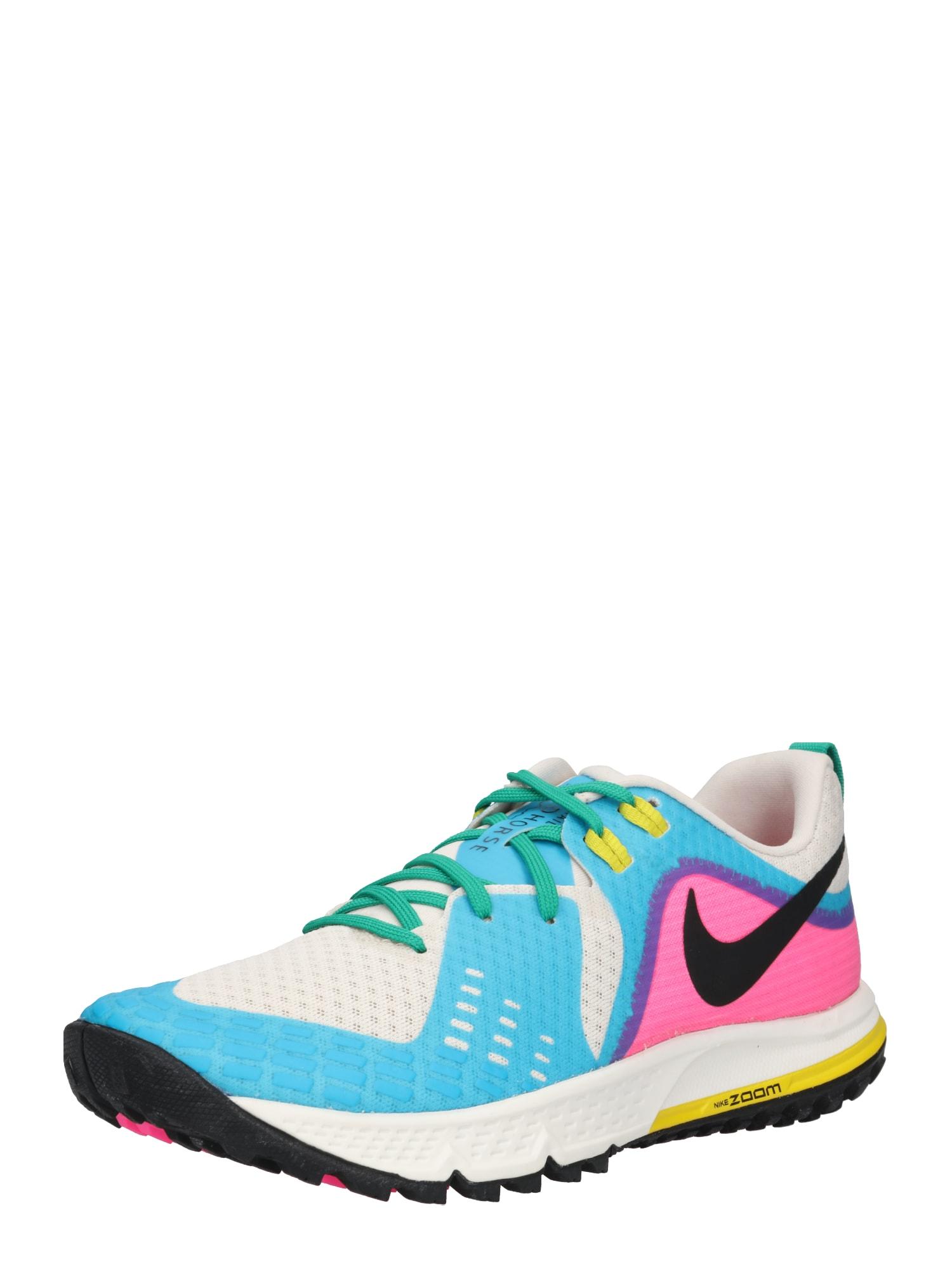 Sportovní boty WMNS AIR ZOOM WILDHORSE 5 krémová modrá pink NIKE