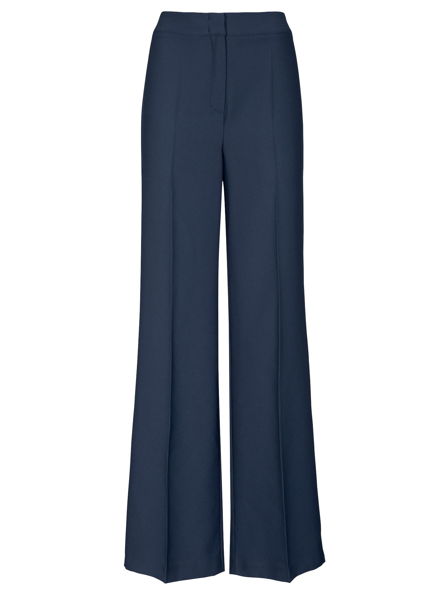 Kalhoty s puky marine modrá Heine