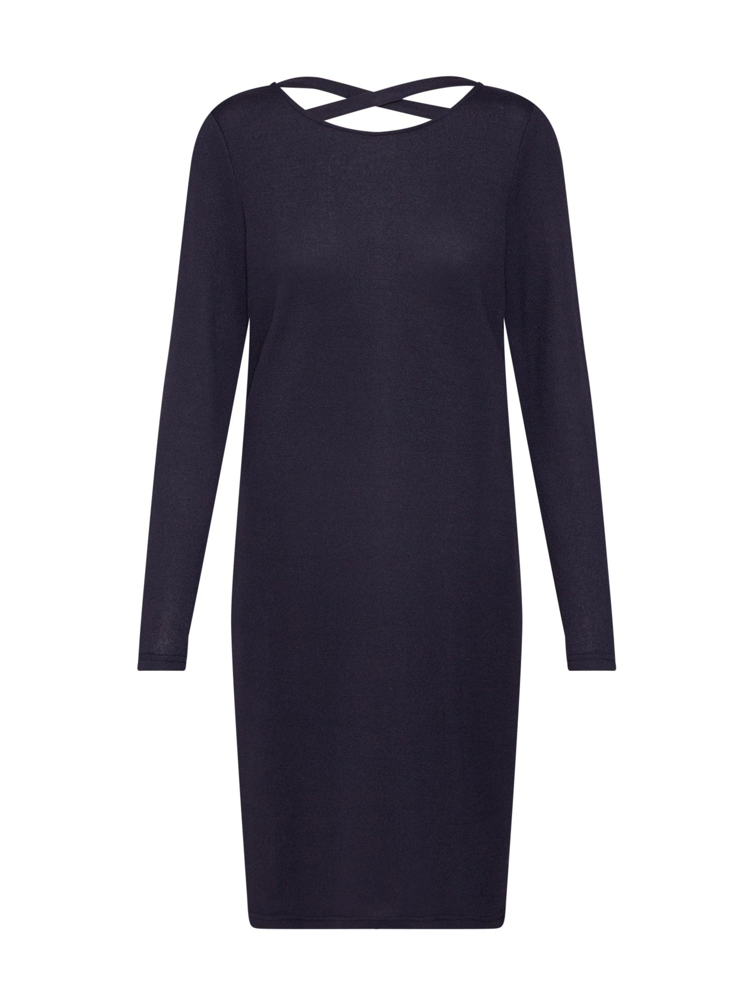 Úpletové šaty EMILY noční modrá JACQUELINE De YONG