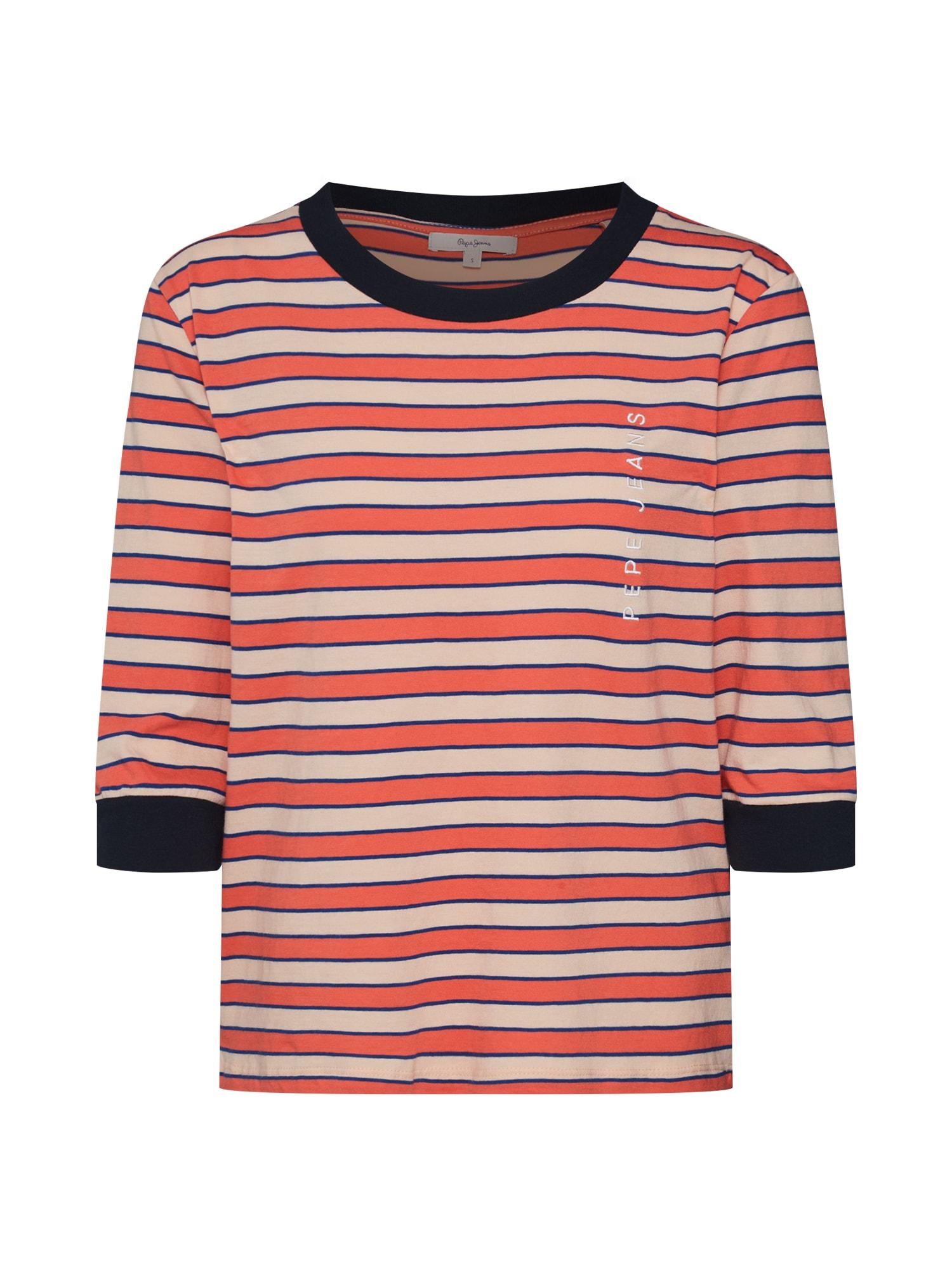 Tričko béžová červená Pepe Jeans