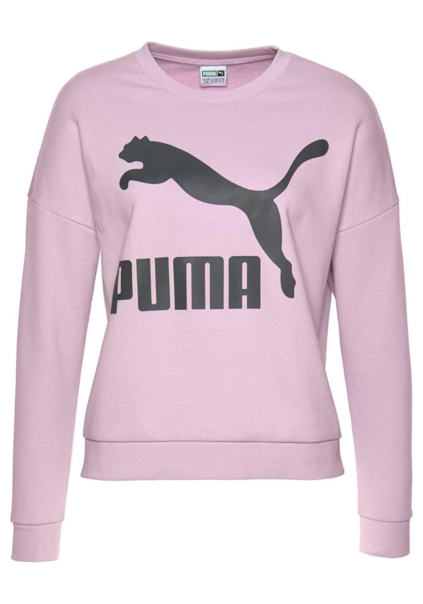 PUMA, Dames Sweatshirt, lichtlila / zwart