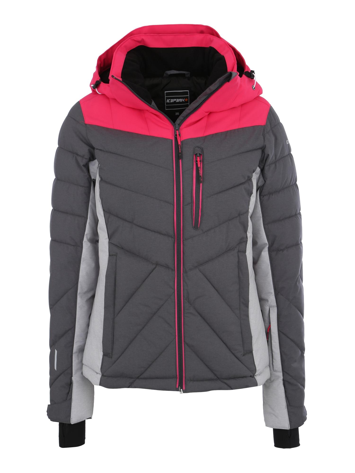 Sportovní bunda Kendra šedá tmavě šedá tmavě růžová ICEPEAK