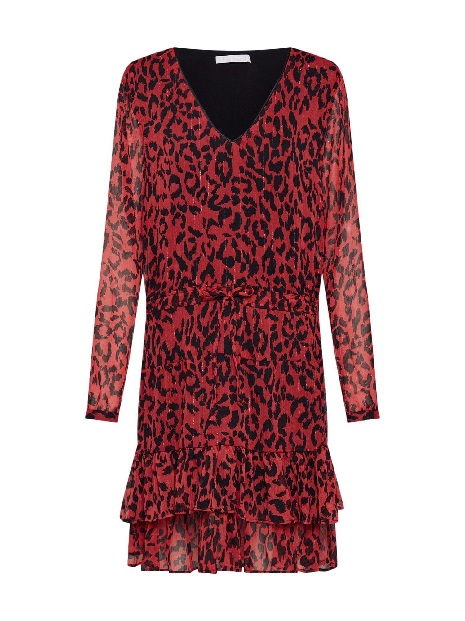 Freebird Sukienka koktajlowa  ognisto-czerwony / czarny