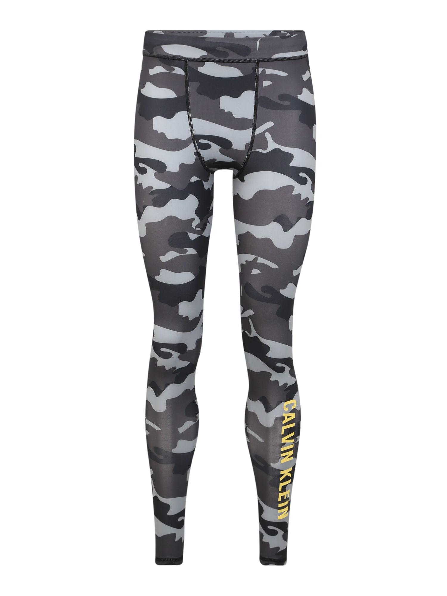 Calvin Klein Performance Sportovní kalhoty  šedá / černá