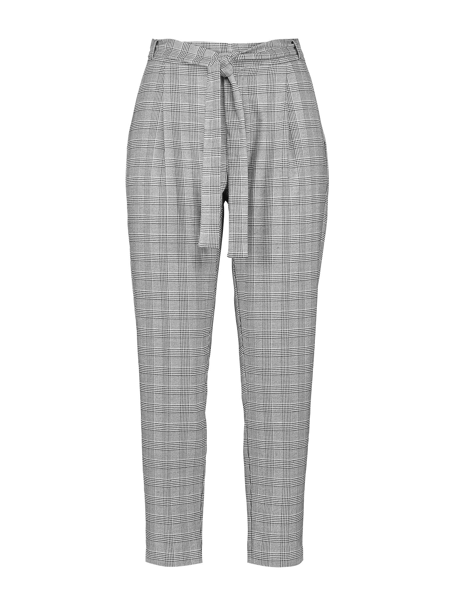 Kalhoty se sklady v pase světle šedá Talkabout