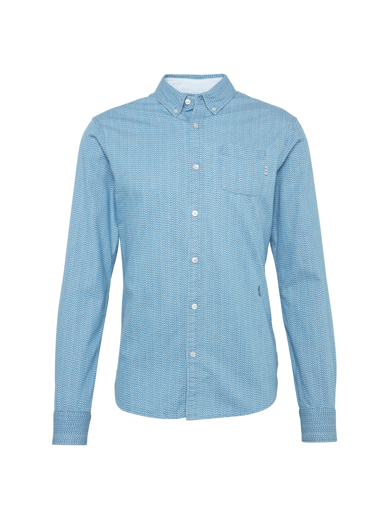 SCOTCH  and  SODA Heren Overhemd Ams Blauw allover printed button down shirt lic