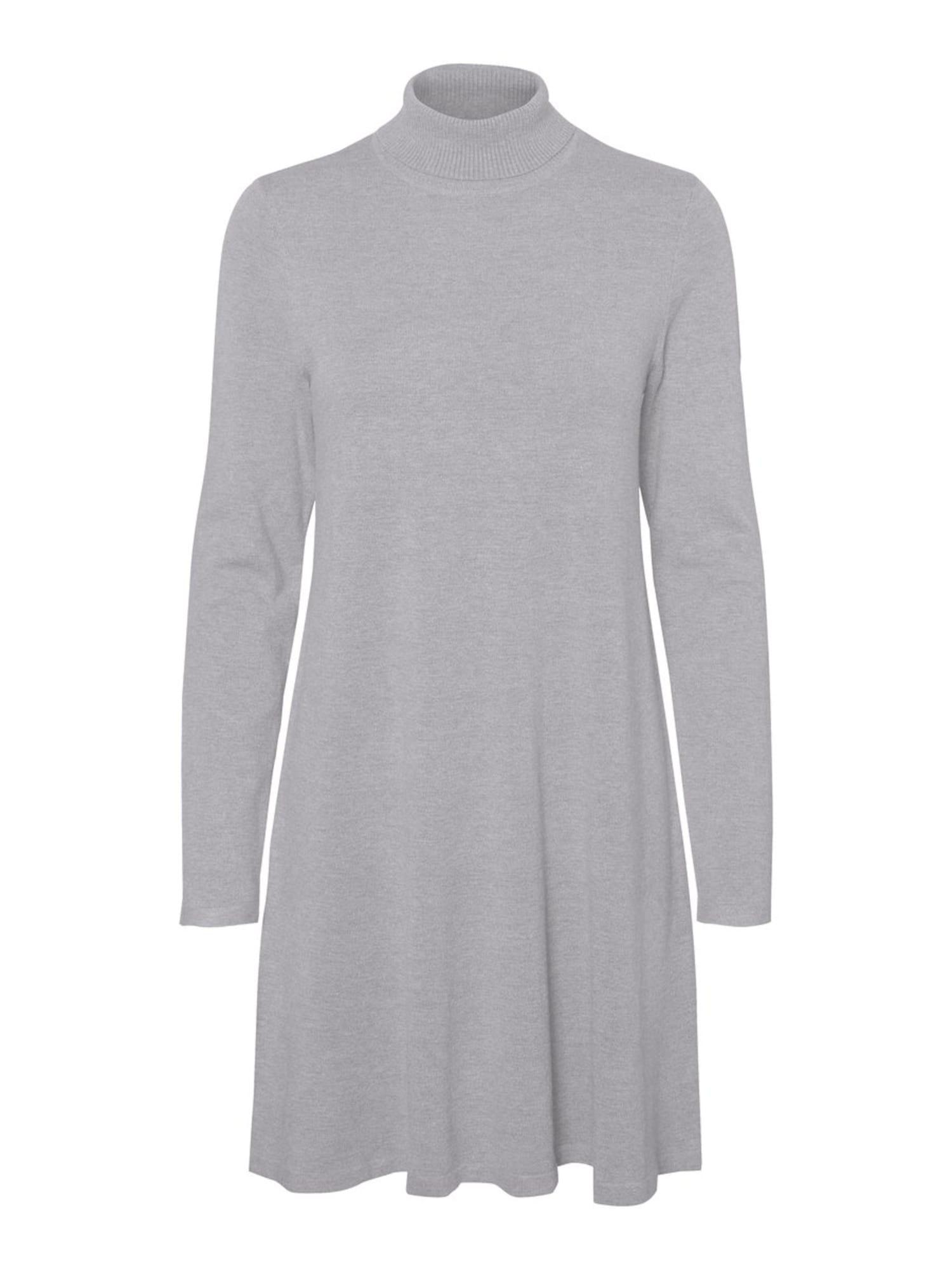 VERO MODA Úpletové šaty 'HAPPY'  šedý melír
