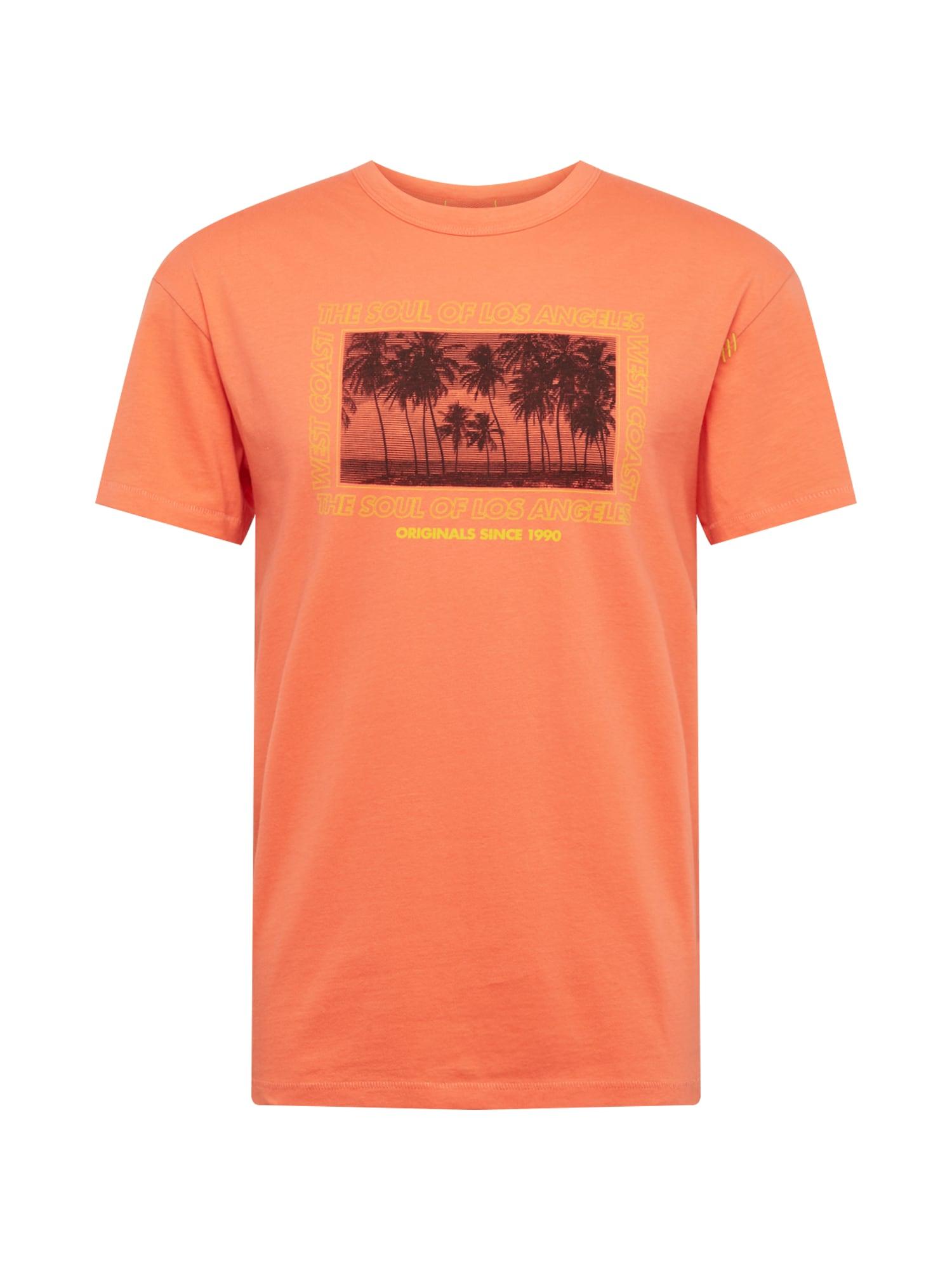 Tričko WESTCOAST žlutá oranžová černá JACK & JONES
