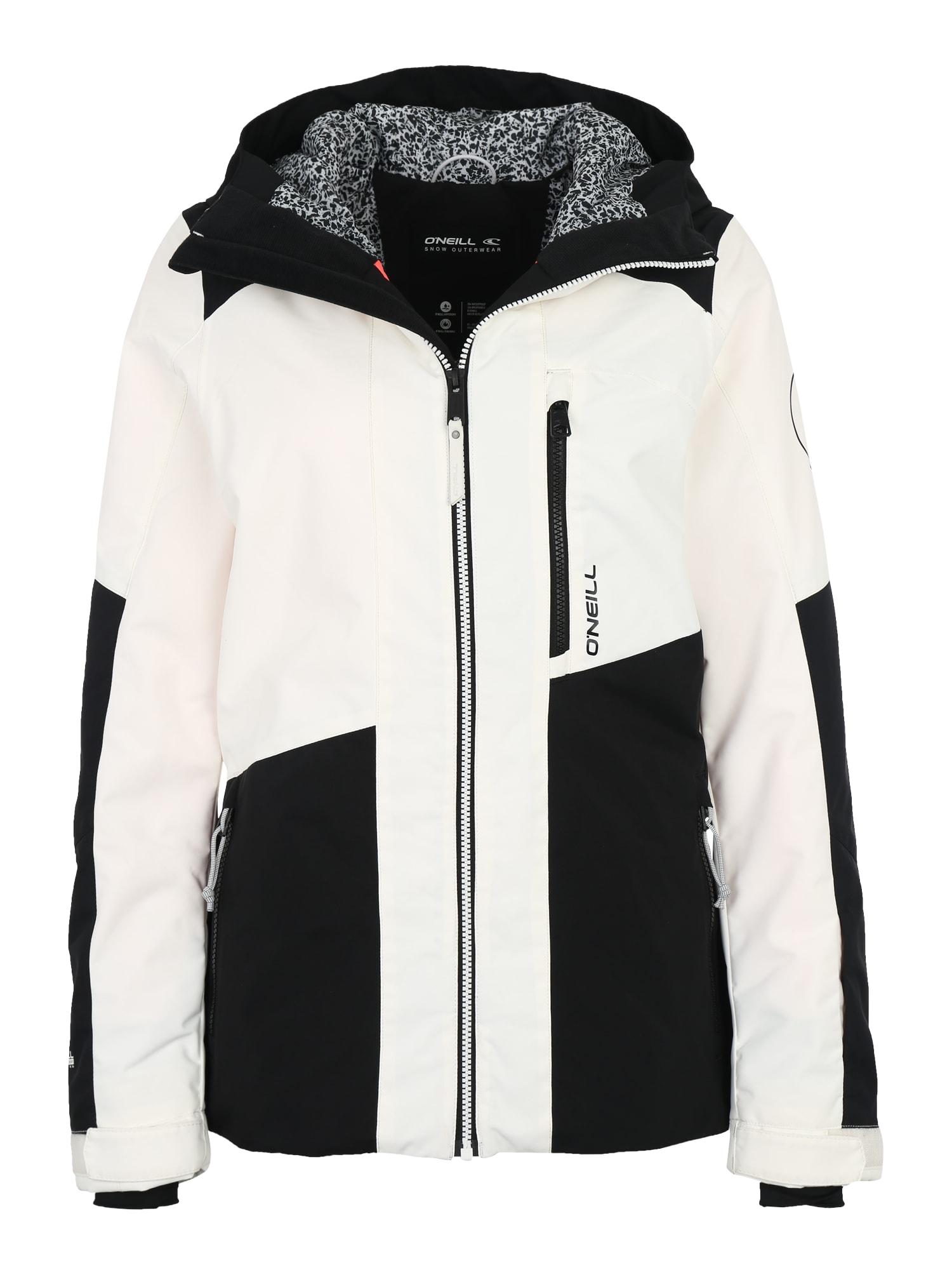 ONEILL Outdoorová bunda CASCADE černá bílá O'NEILL