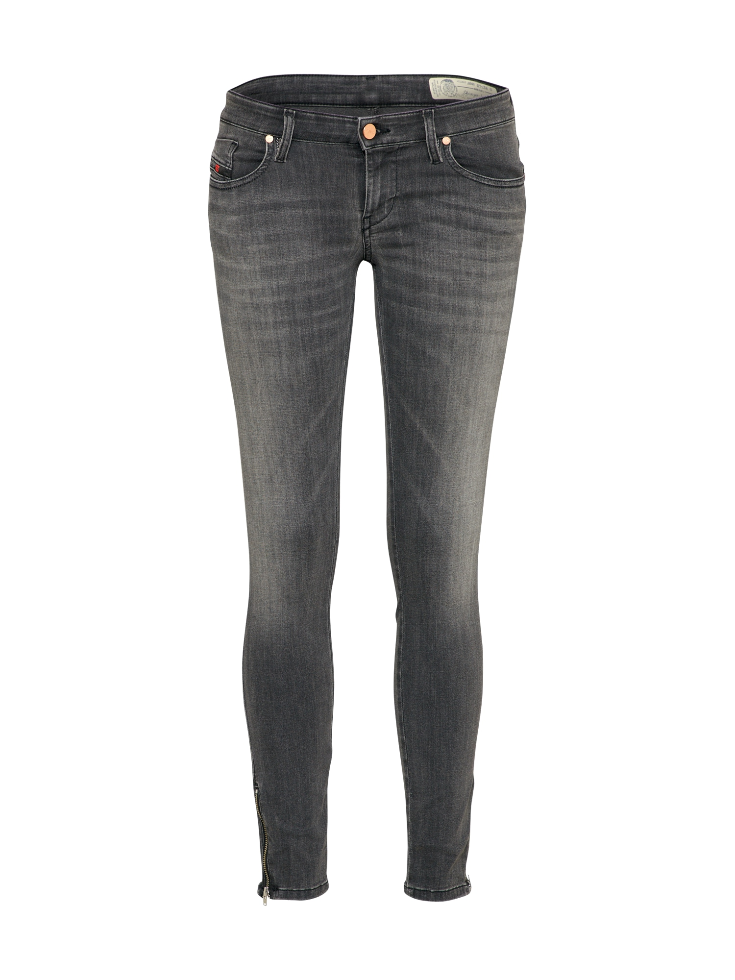 DIESEL Dames Jeans Skinzee-Low-Zip grey denim