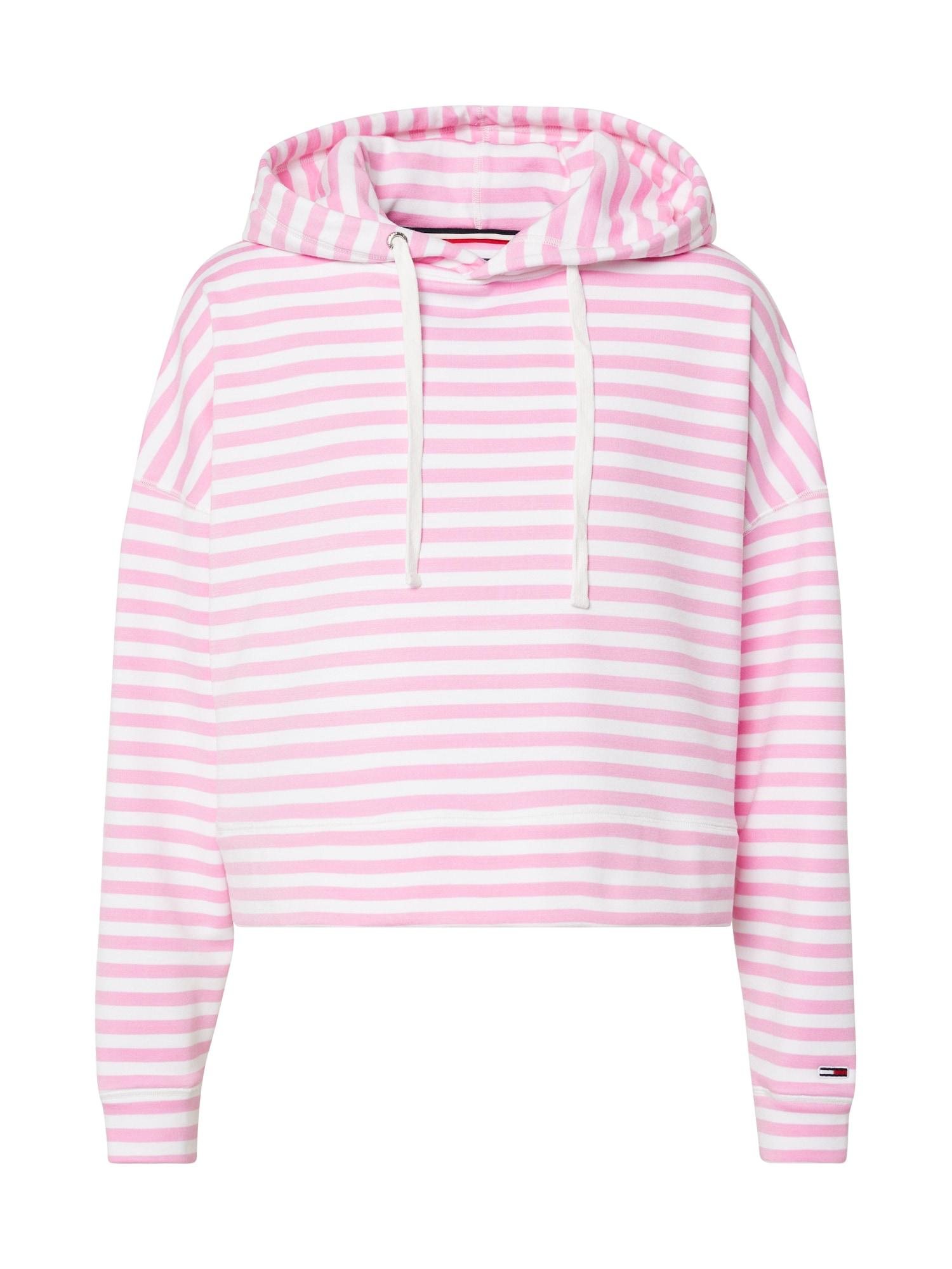 Tommy Jeans Mikina  bílá / pink