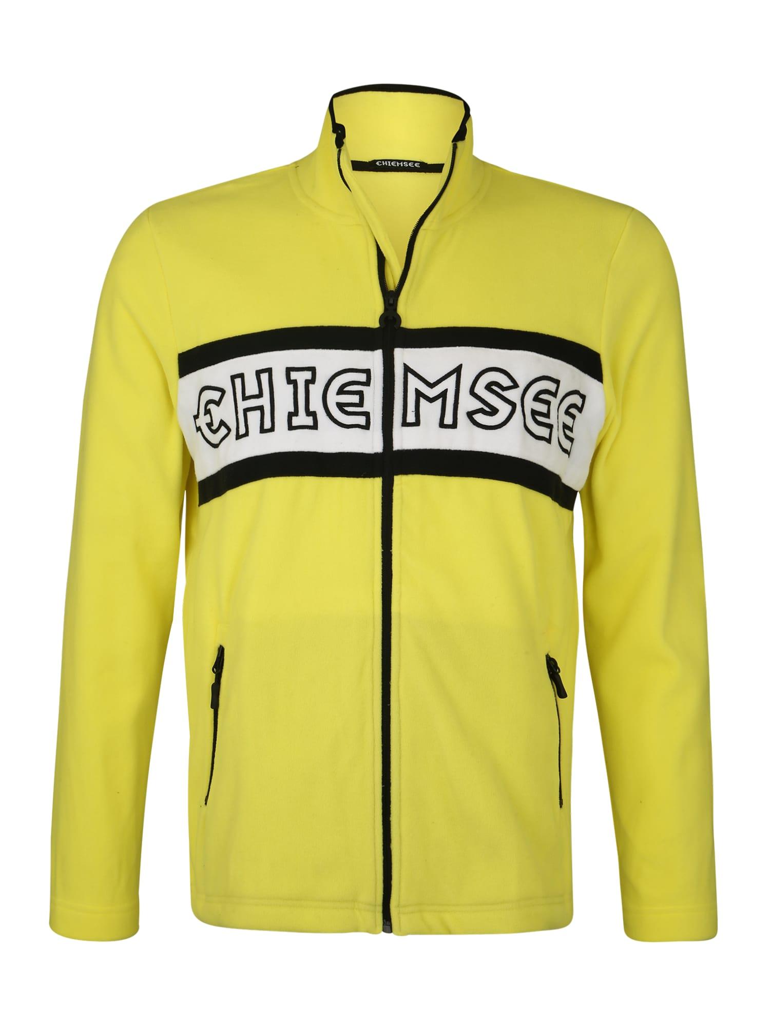 CHIEMSEE Sportovní mikina s kapucí  žlutá / černá