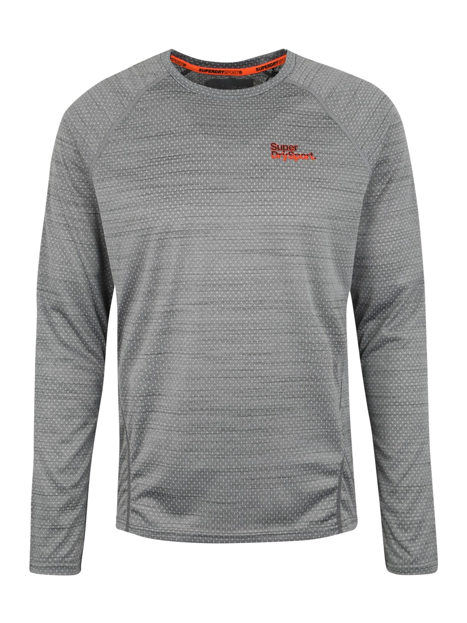 Funkční tričko Active MMicrovent LS Tee šedá Superdry