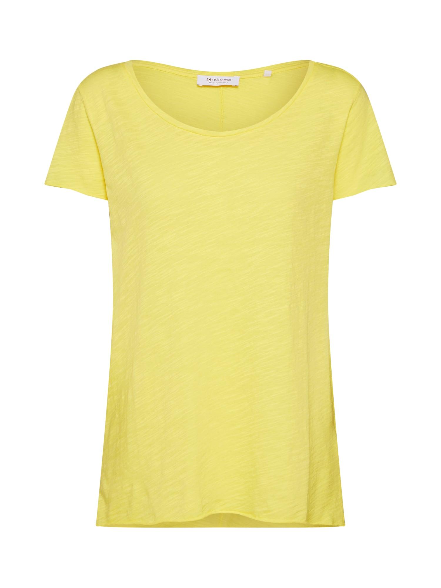 Tričko žlutá Rich & Royal