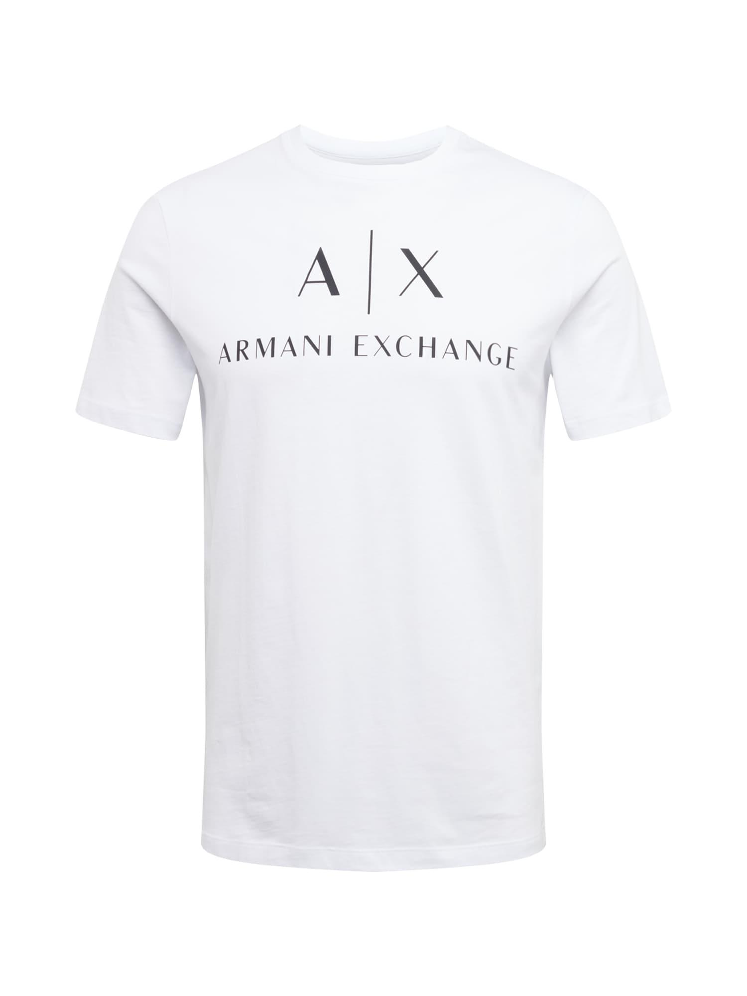ARMANI EXCHANGE Tričko  bílá