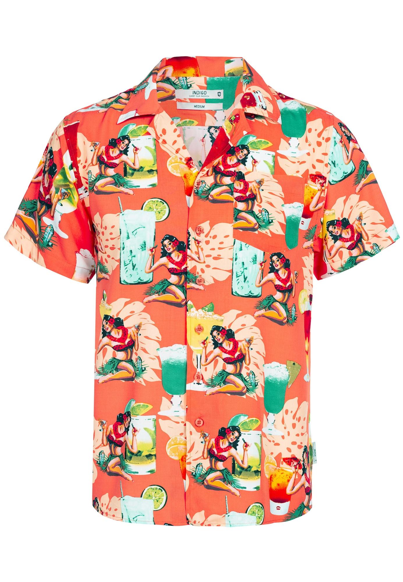 Hawaiihemd 'Charlton' | Bekleidung > Hemden > Hawaiihemden | INDICODE JEANS